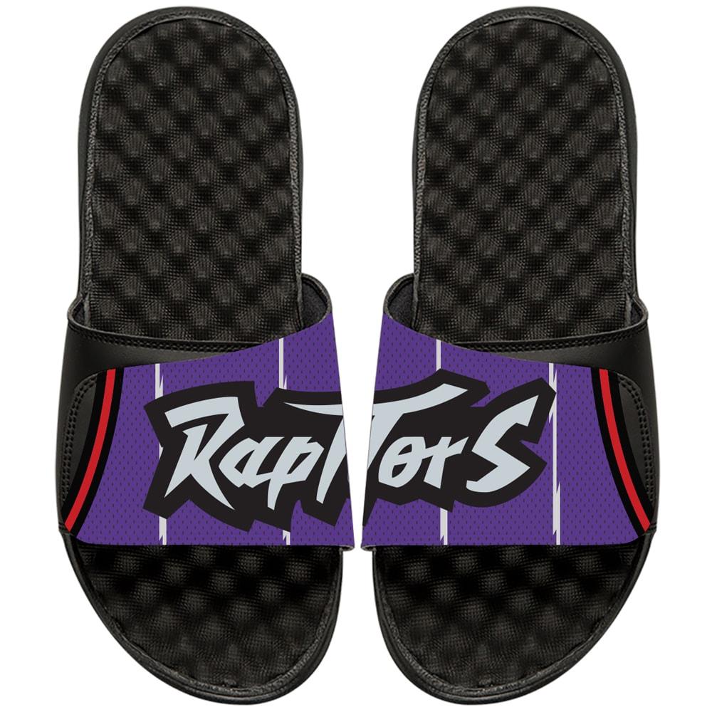 Toronto Raptors ISlide NBA Hardwood Classics Jersey Slide Sandals - Black/Purple