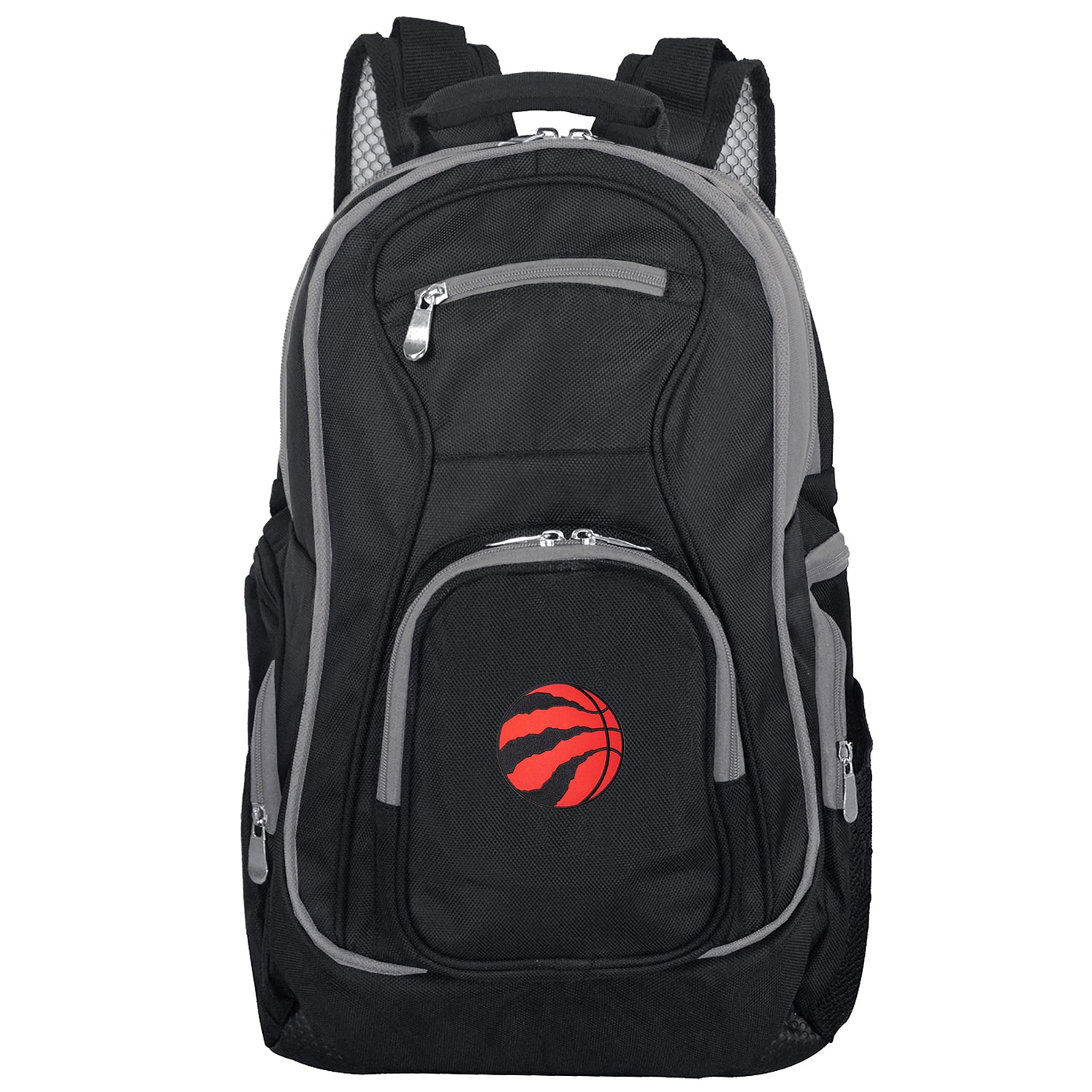Toronto Raptors Trim Color Laptop Backpack - Black