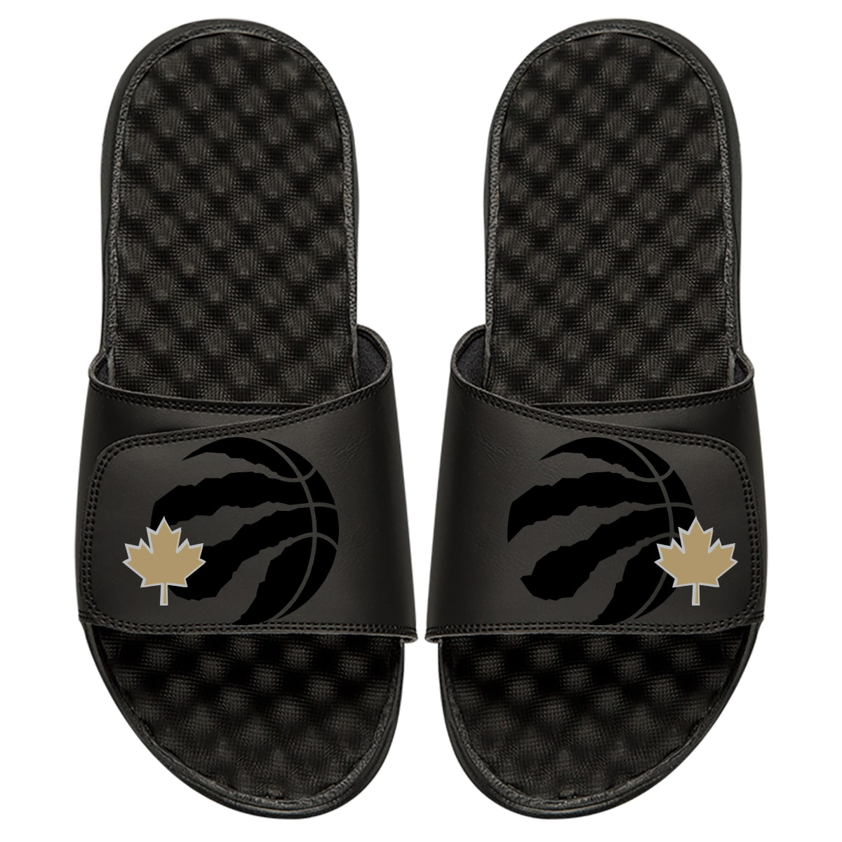 Toronto Raptors ISlide Tonal Pop Slide Sandals - Black