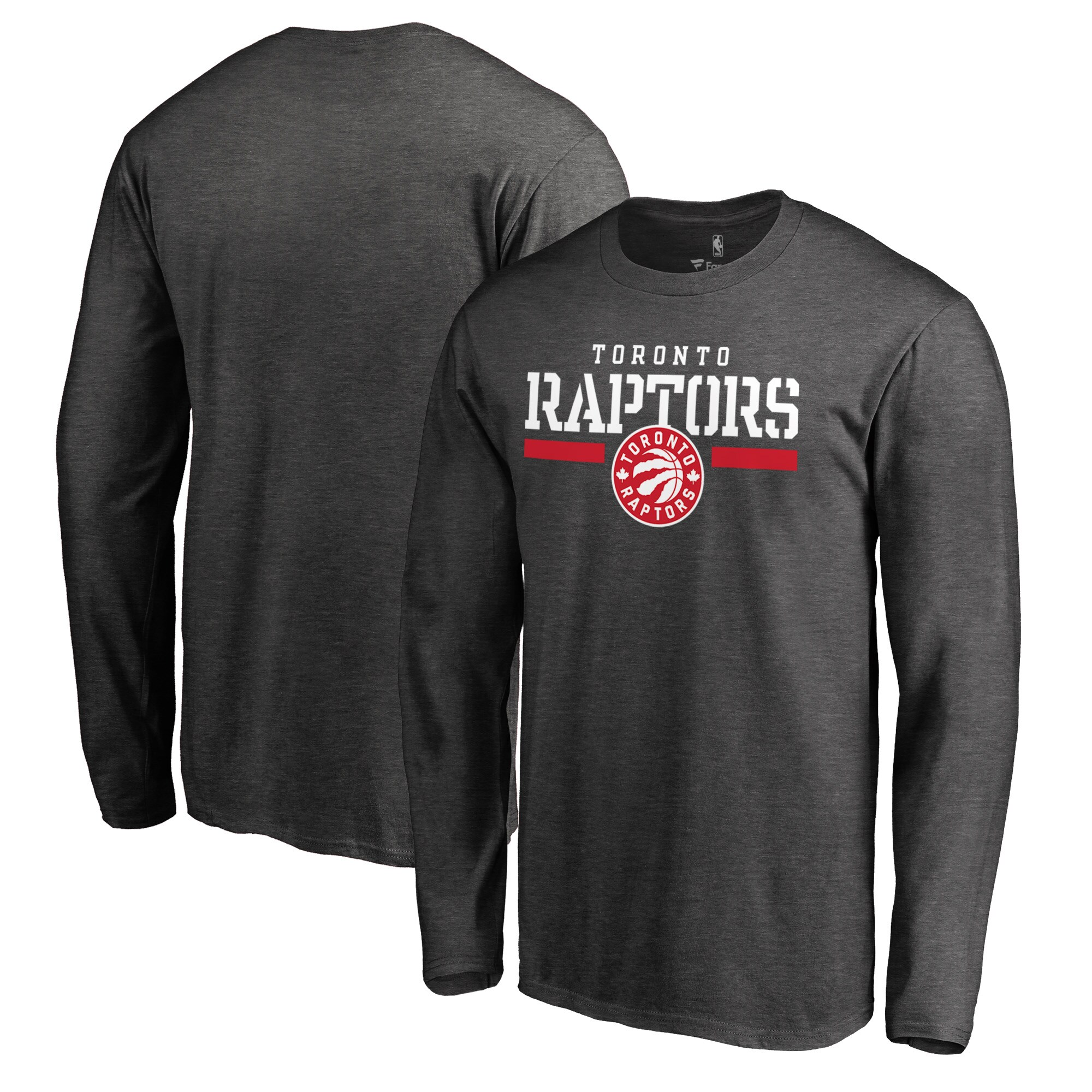 Toronto Raptors Fanatics Branded Hoops for Troops Long Sleeve T-Shirt - Heathered Gray