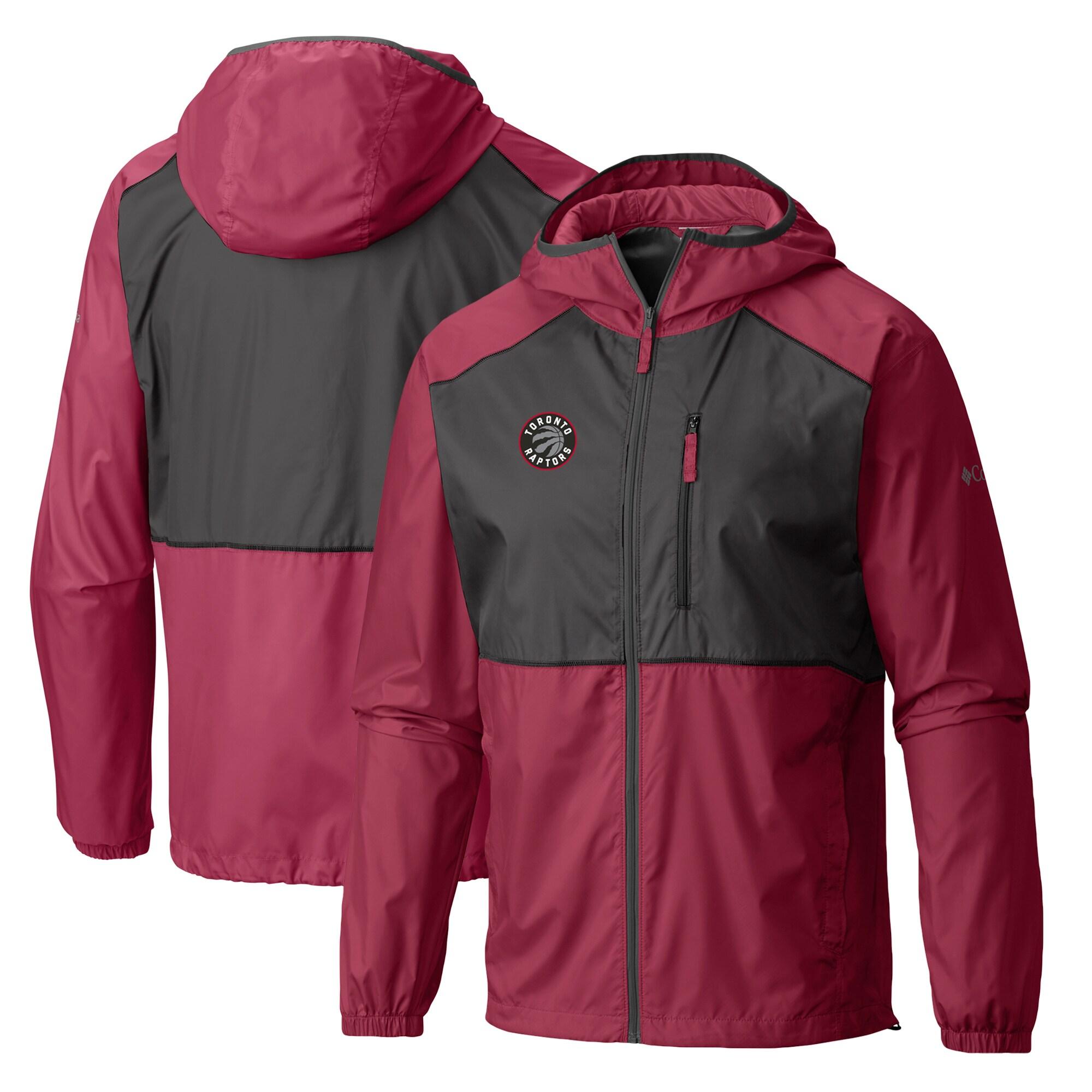 Toronto Raptors Columbia Flash Forward Full-Zip Windbreaker Jacket - Red