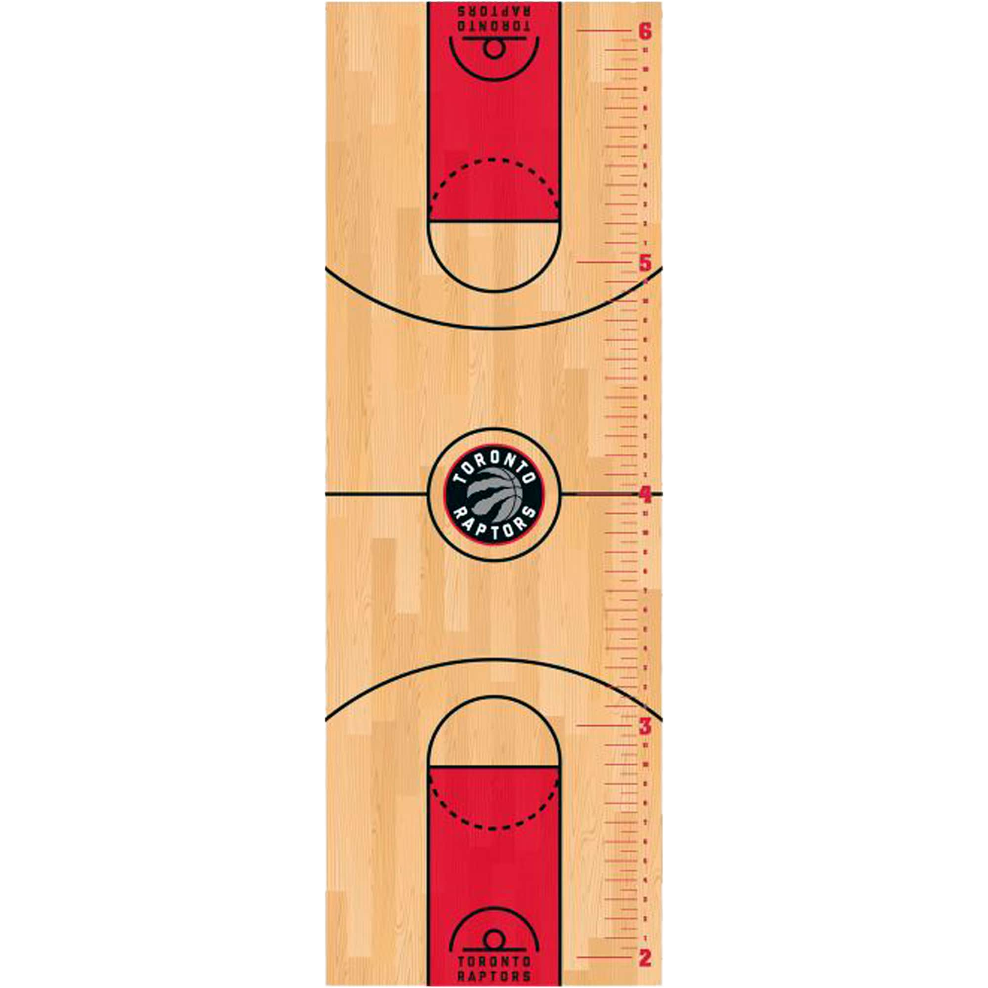 Toronto Raptors Fathead Basketball Court Large Removable Growth Chart