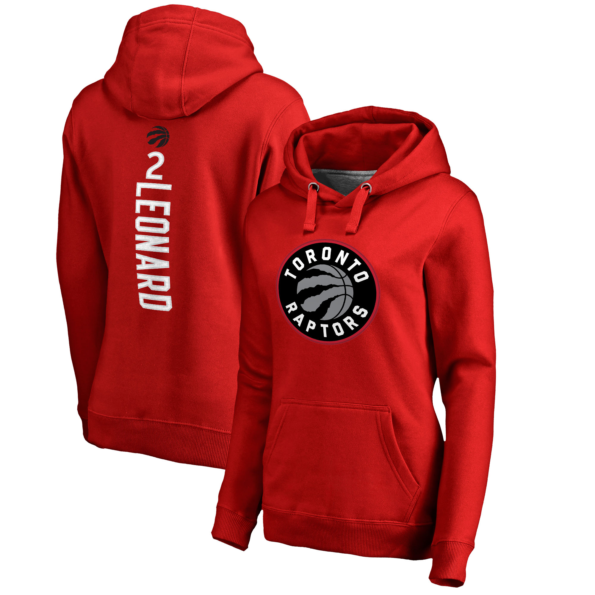 Kawhi Leonard Toronto Raptors Fanatics Branded Women's Team Backer Name & Number Pullover Hoodie - Red