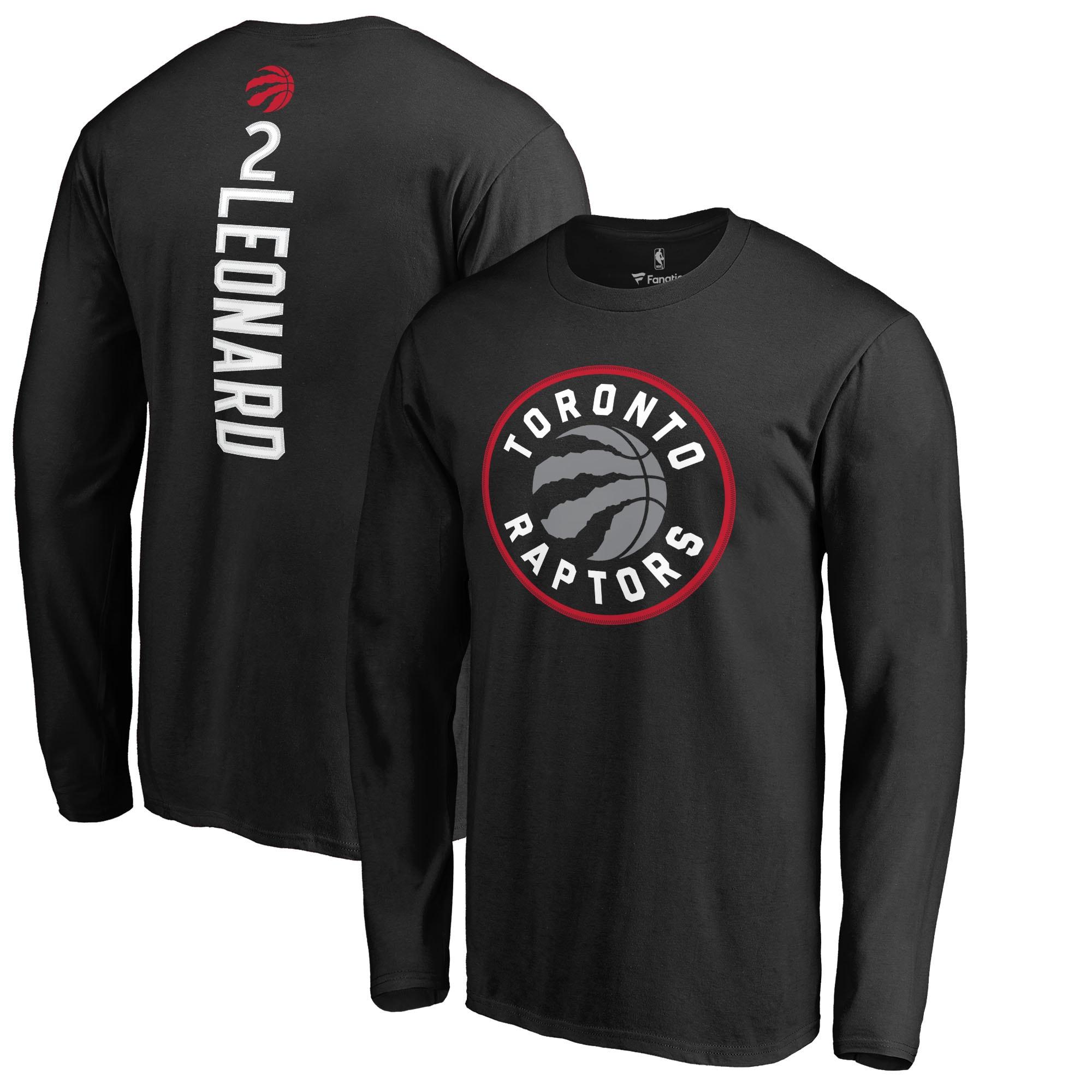 Kawhi Leonard Toronto Raptors Fanatics Branded Team Backer Name & Number Long Sleeve T-Shirt - Black