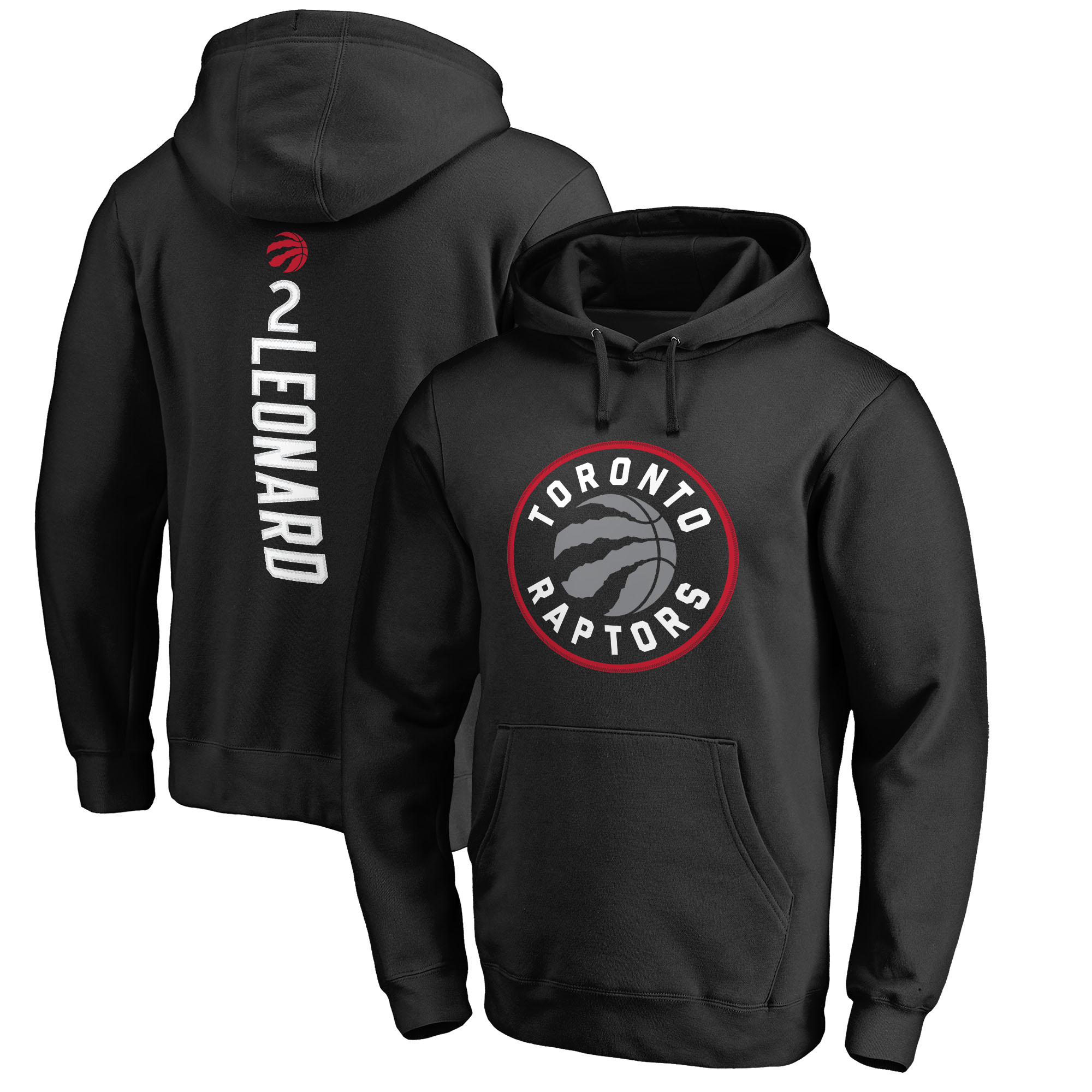 Kawhi Leonard Toronto Raptors Fanatics Branded Team Backer Name & Number Pullover Hoodie - Black