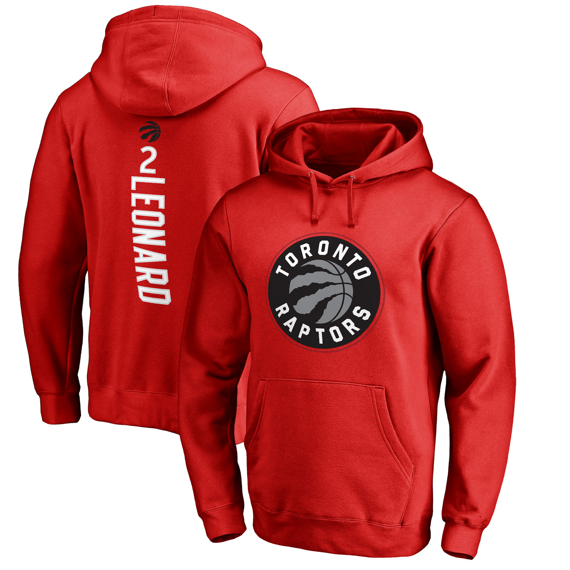 Kawhi Leonard Toronto Raptors Fanatics Branded Team Backer Name & Number Pullover Hoodie - Red