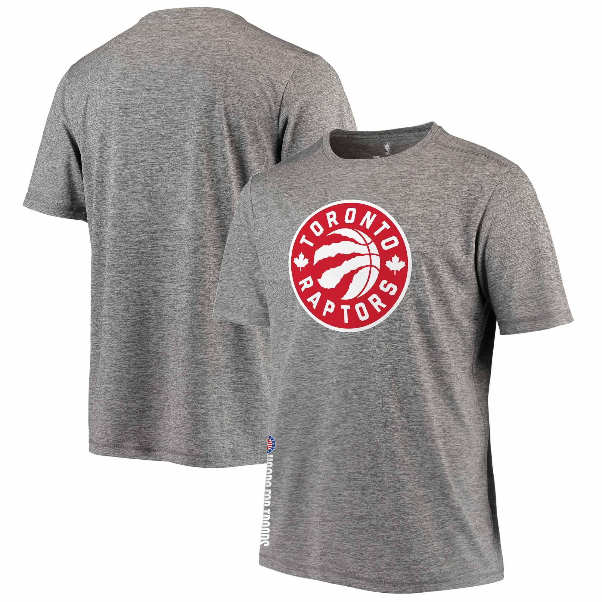 Toronto Raptors Fanatics Branded Hoops For Troops T-Shirt - Heathered Gray