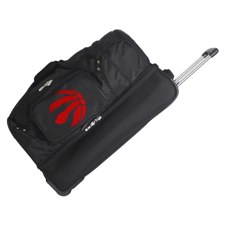"Toronto Raptors 27"" 2-Wheel Rolling Drop Bottom Duffel Bag - Black"