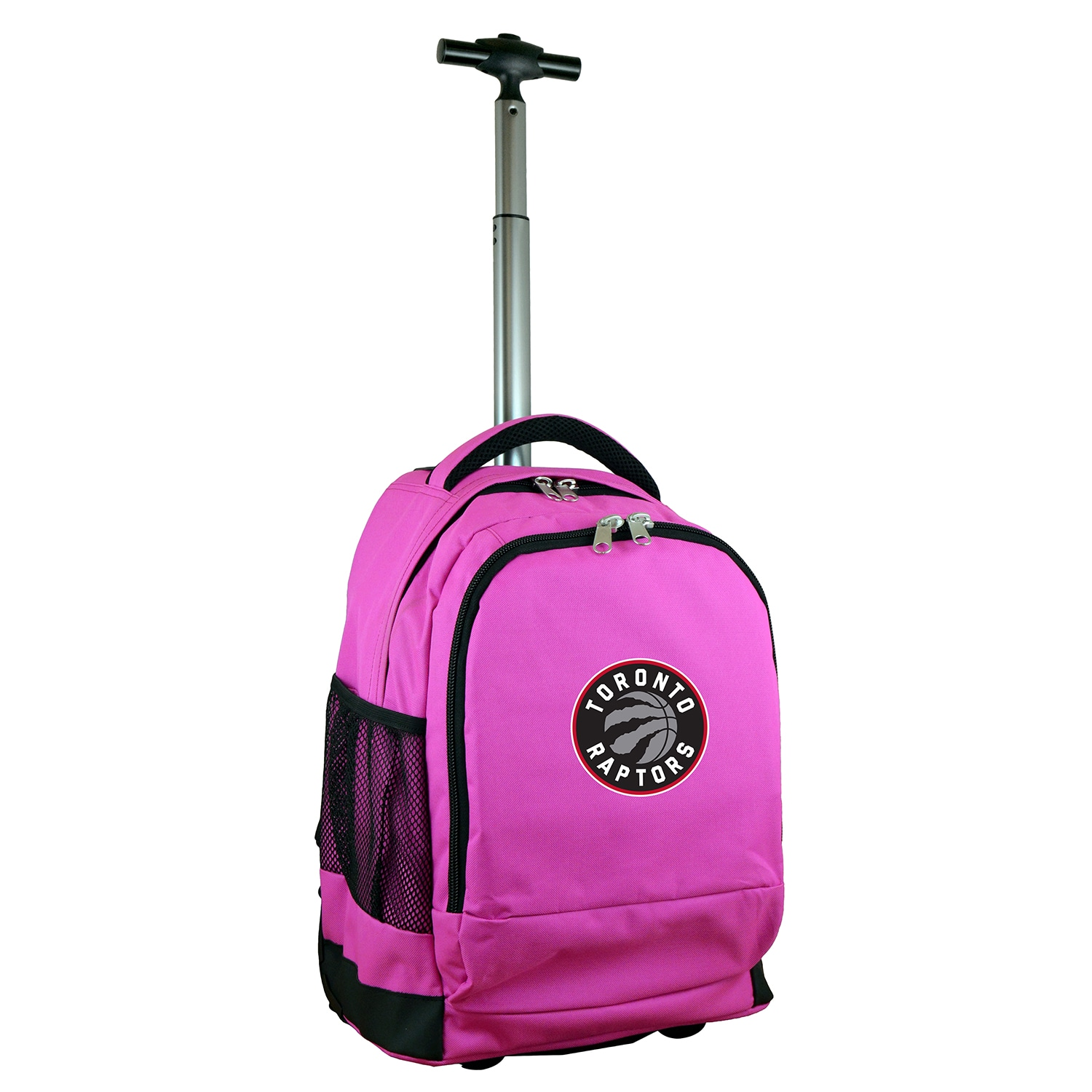 Toronto Raptors 19'' Premium Wheeled Backpack - Pink
