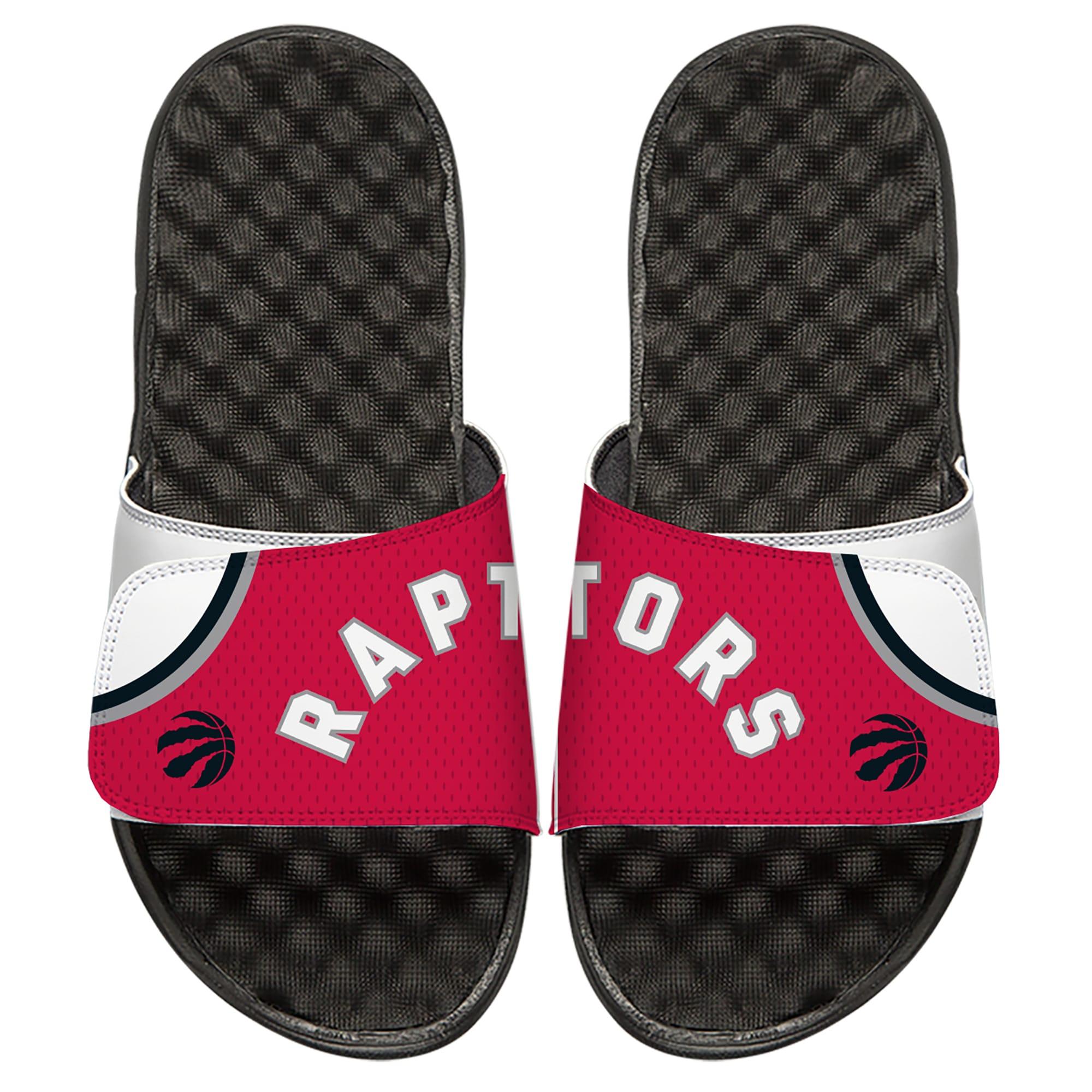 Toronto Raptors ISlide Away Jersey Split Slide Sandals - White