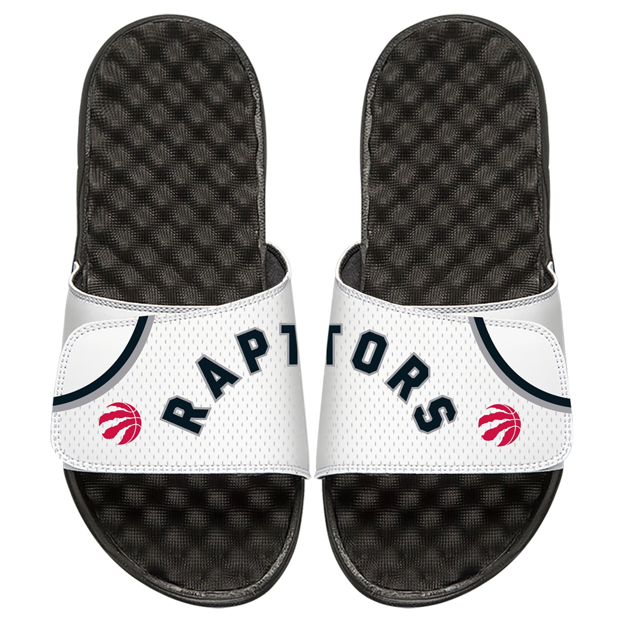 Toronto Raptors ISlide Home Jersey Split Slide Sandals - White