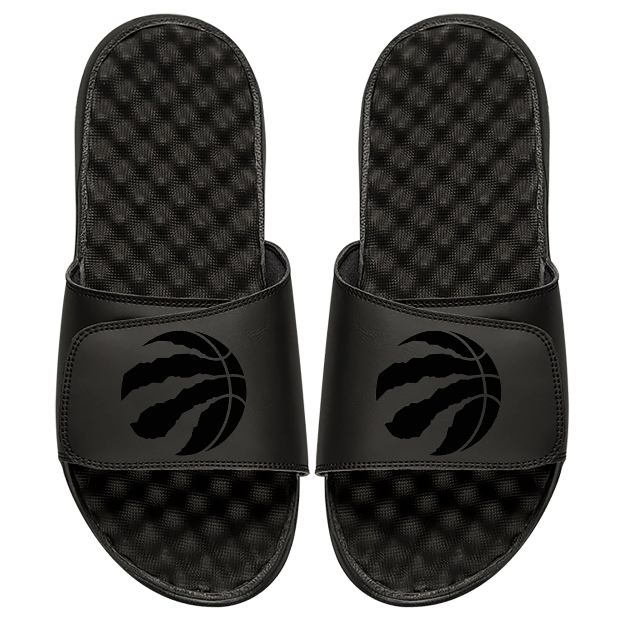 Toronto Raptors ISlide Youth Tonal Slide Sandals - Black