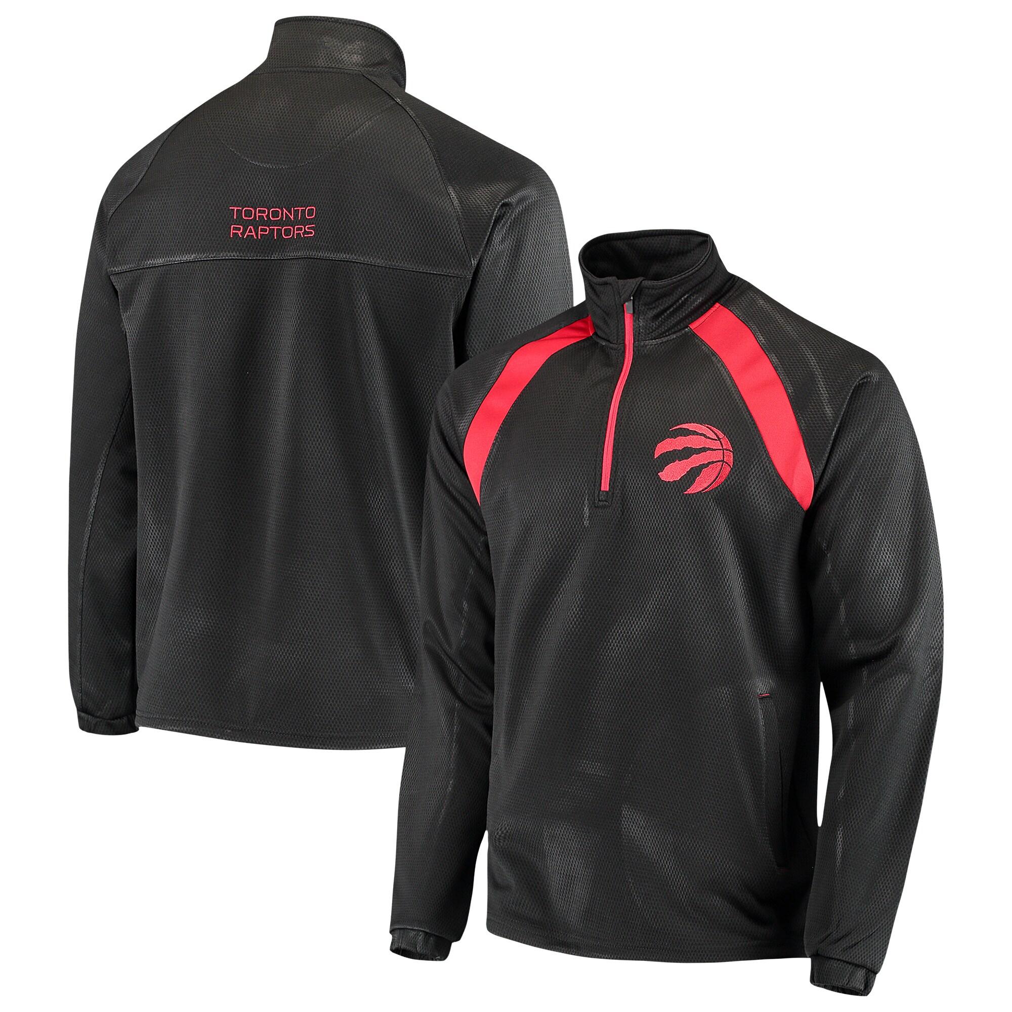 Toronto Raptors G-III Sports by Carl Banks High Impact Quarter-Zip Pullover Jacket - Black