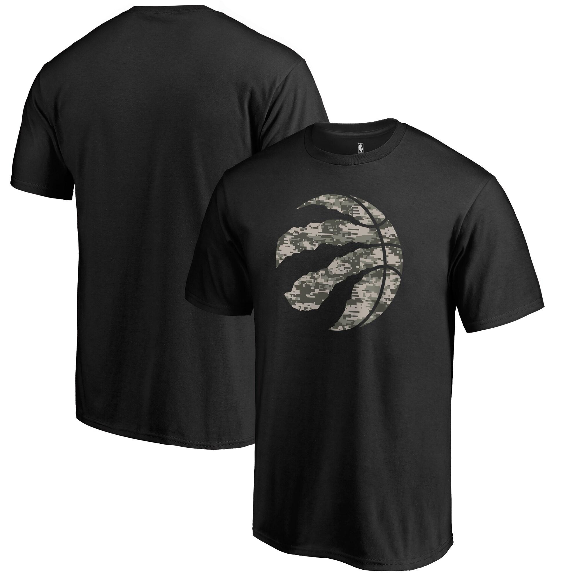 Toronto Raptors Fanatics Branded Big & Tall Cloak Camo T-Shirt - Black