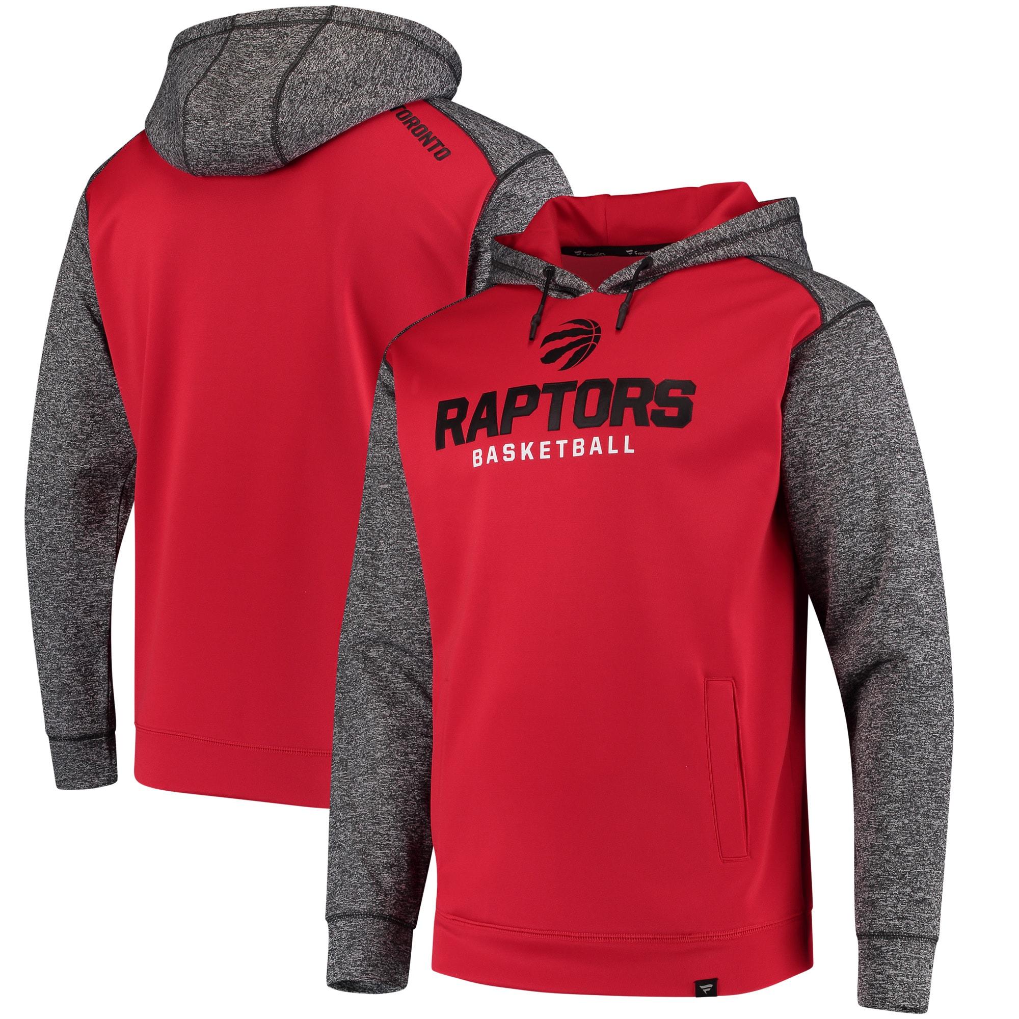 Toronto Raptors Fanatics Branded Static Fleece Pullover Hoodie - Red