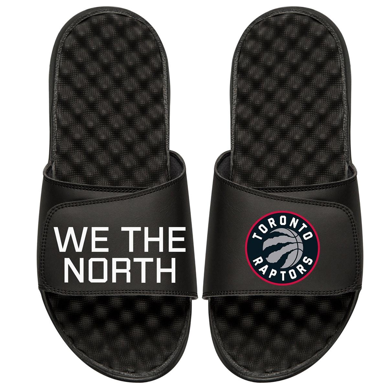 Toronto Raptors ISlide Team Slogan Slide Sandals - Black