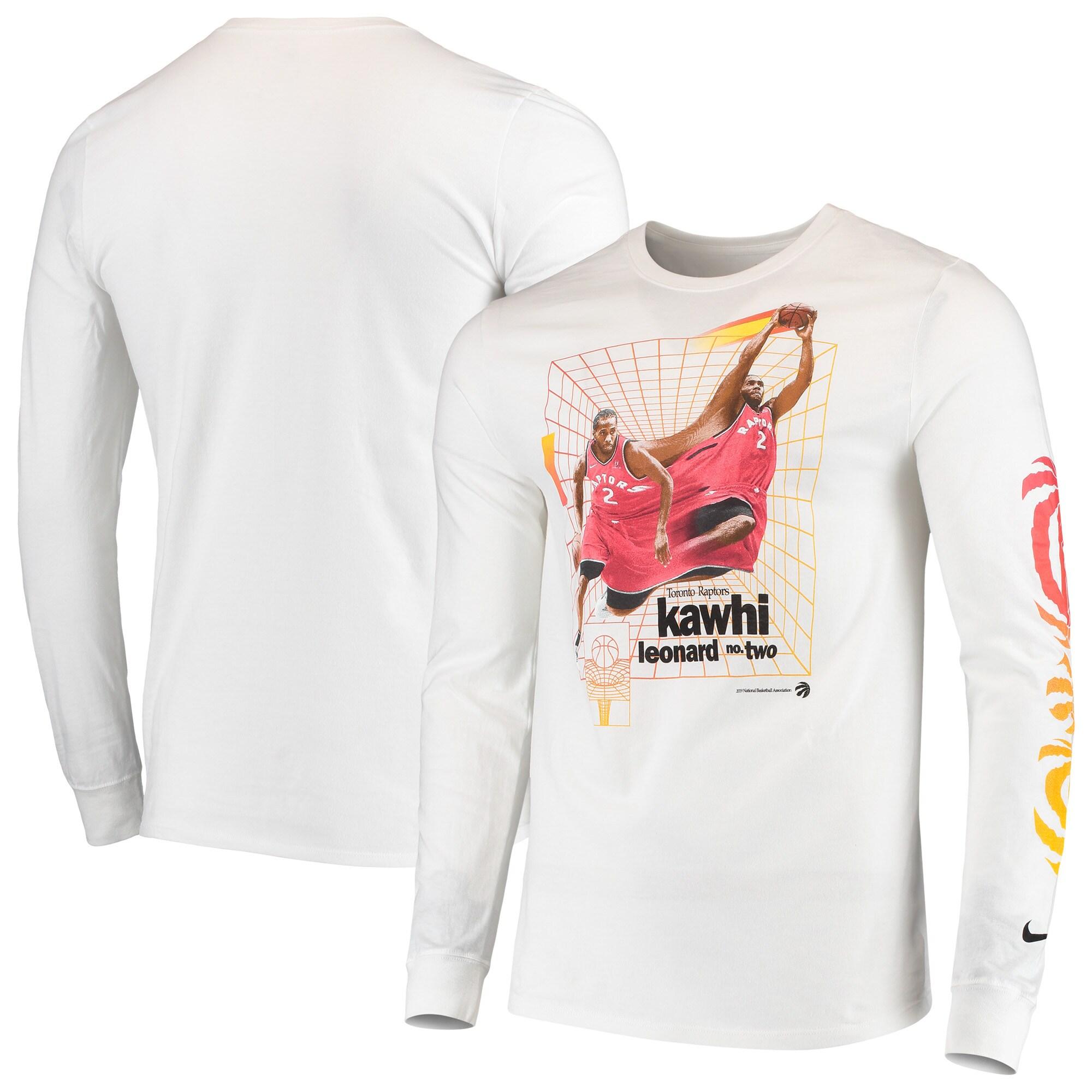 Kawhi Leonard Toronto Raptors Nike Time Warp Long Sleeve T-Shirt - White