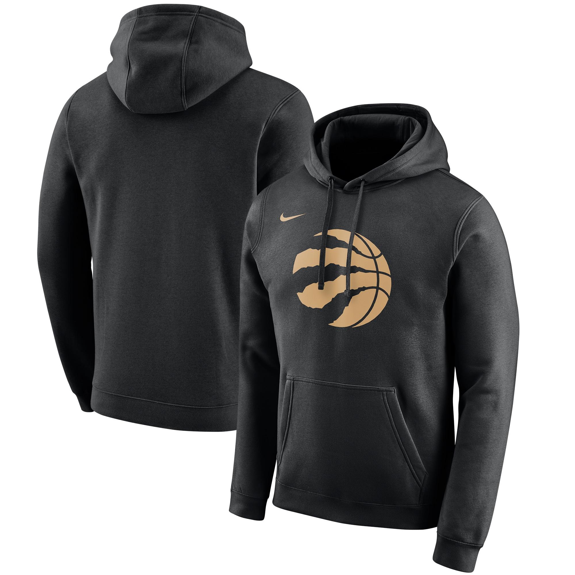 Toronto Raptors Nike 2019/20 City Edition Club Pullover Hoodie - Black