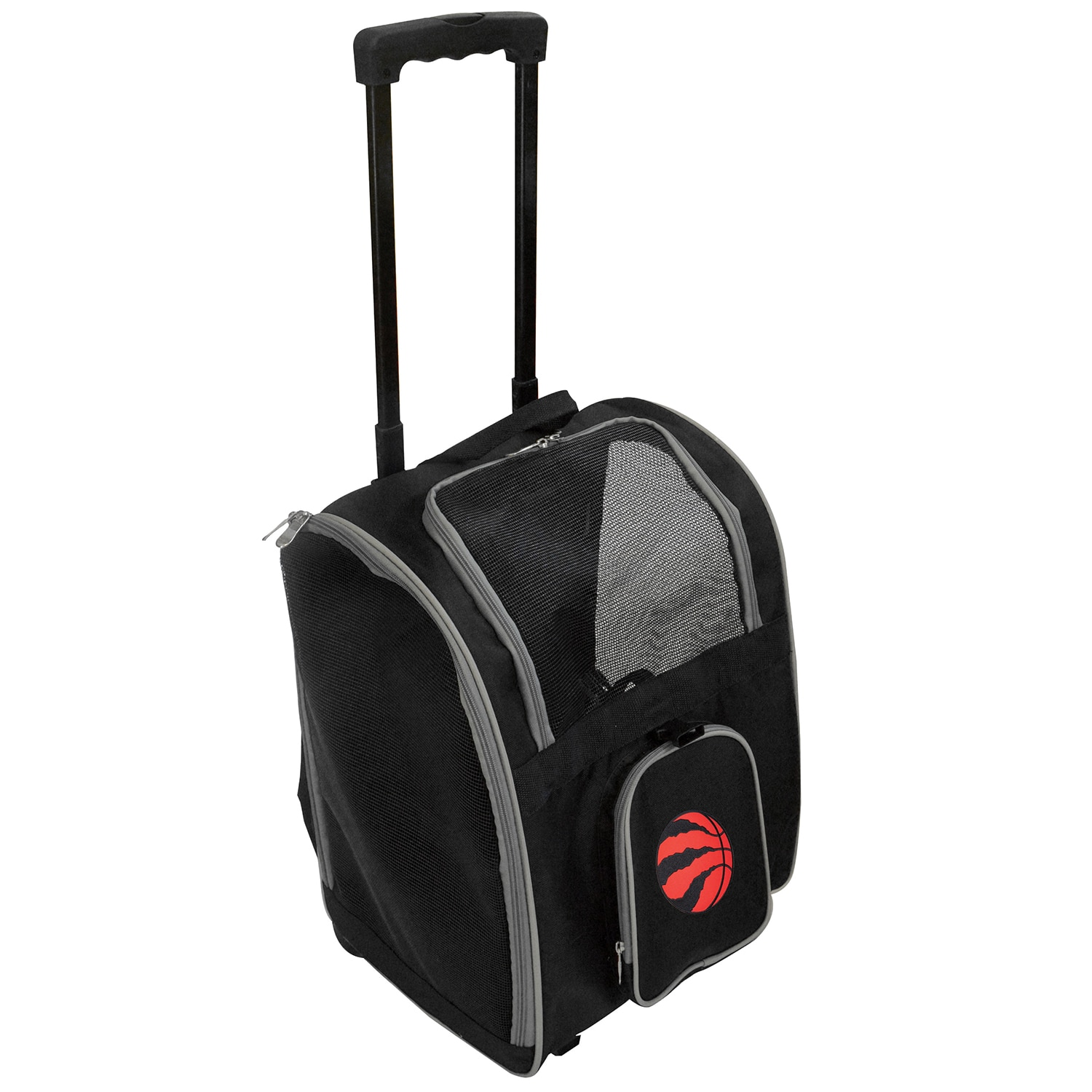 Toronto Raptors 2-Wheeled Roller Pet Carrier - Black