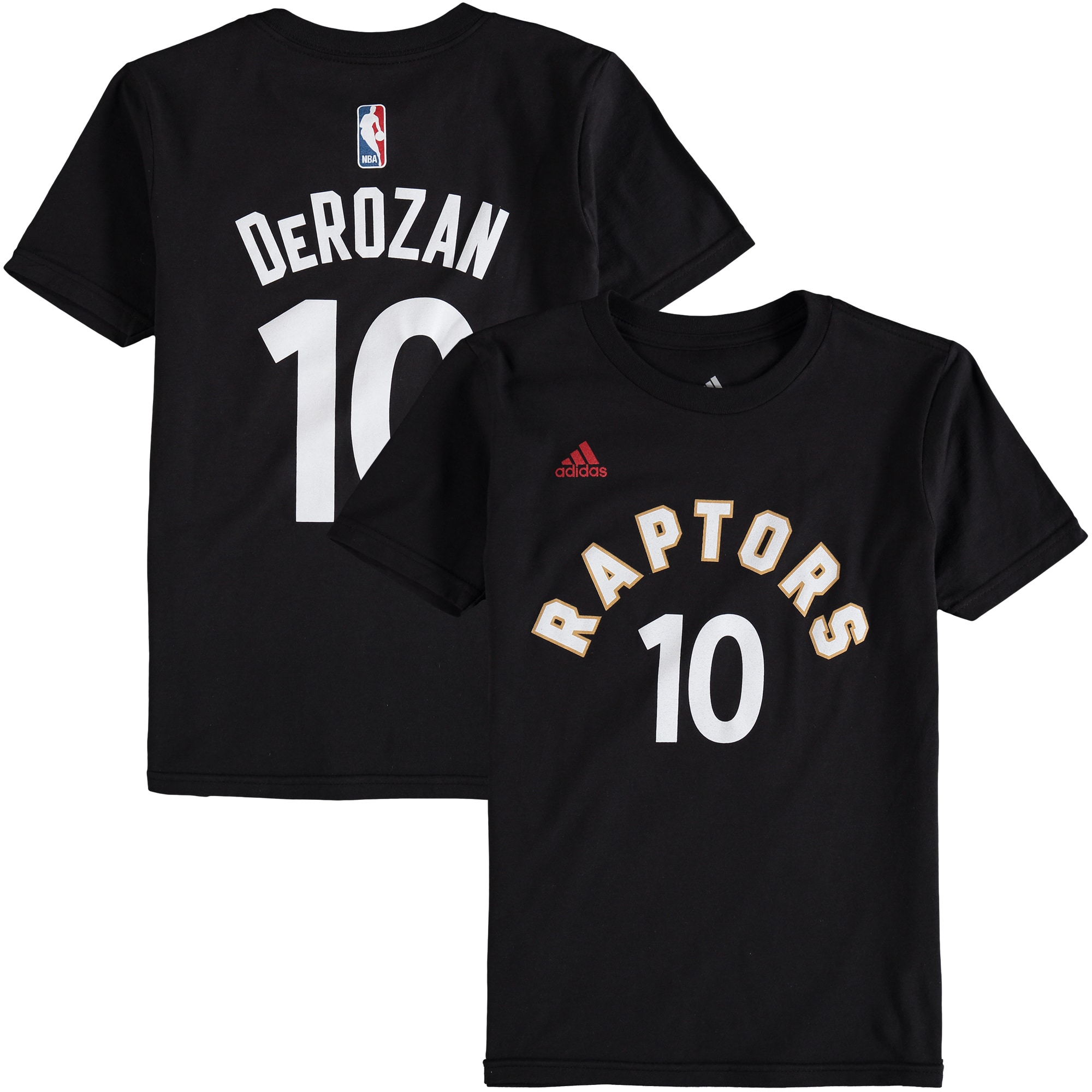 DeMar DeRozan Toronto Raptors adidas Youth Game Time Flat Name & Number T-Shirt - Black