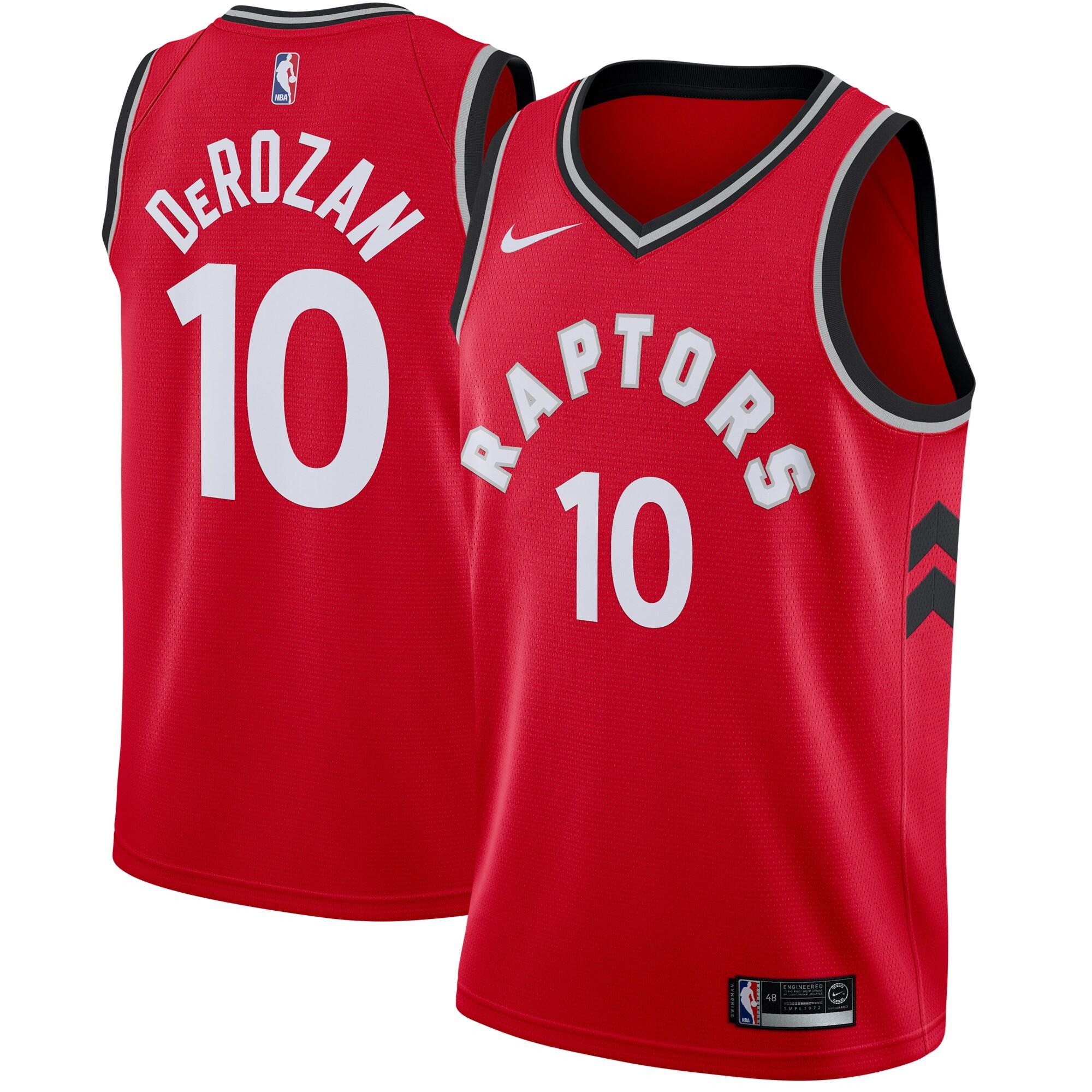 DeMar DeRozan Toronto Raptors Nike Swingman Jersey Red - Icon Edition