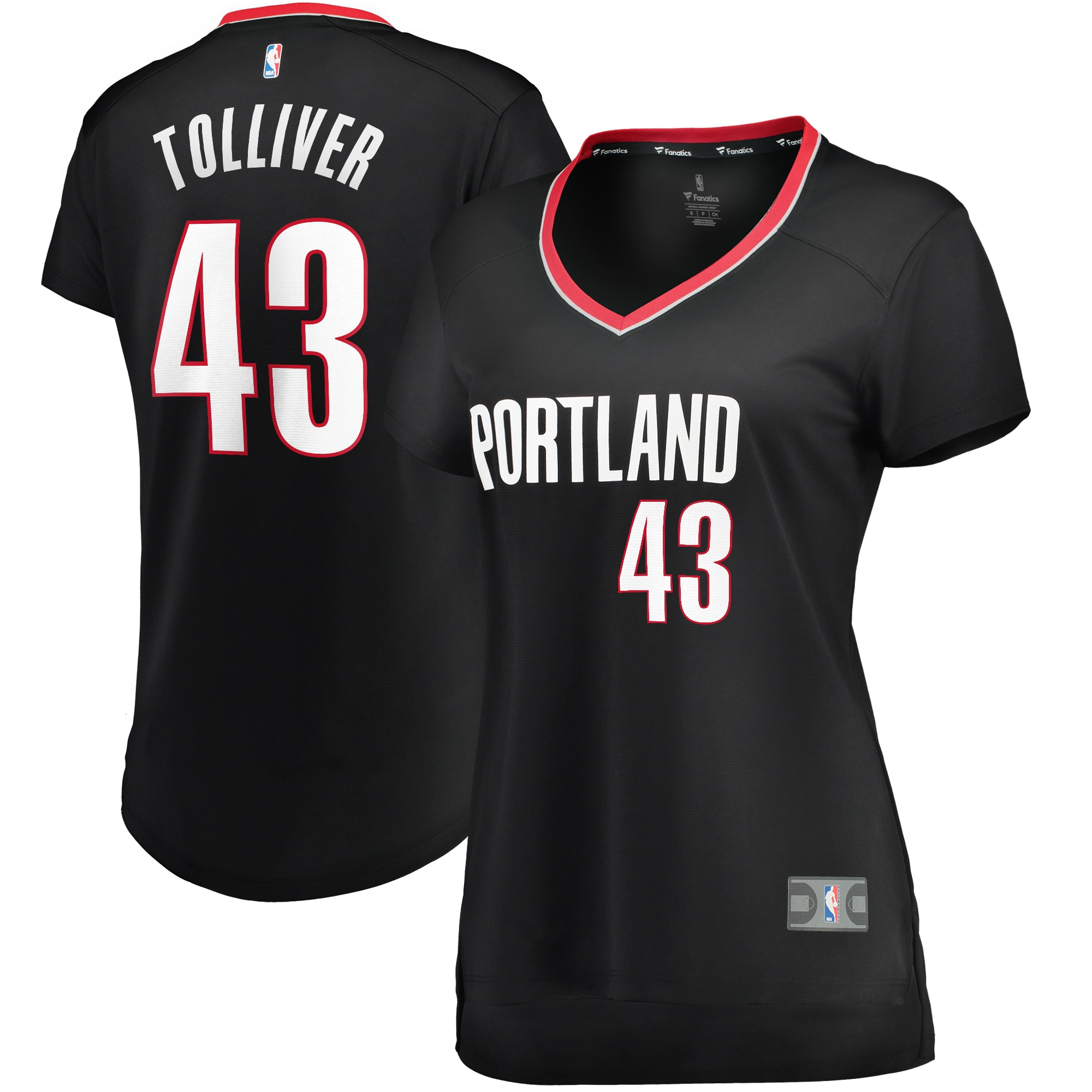 Anthony Tolliver Portland Trail Blazers Fanatics Branded Women's Fast Break Replica Jersey Black - Icon Edition