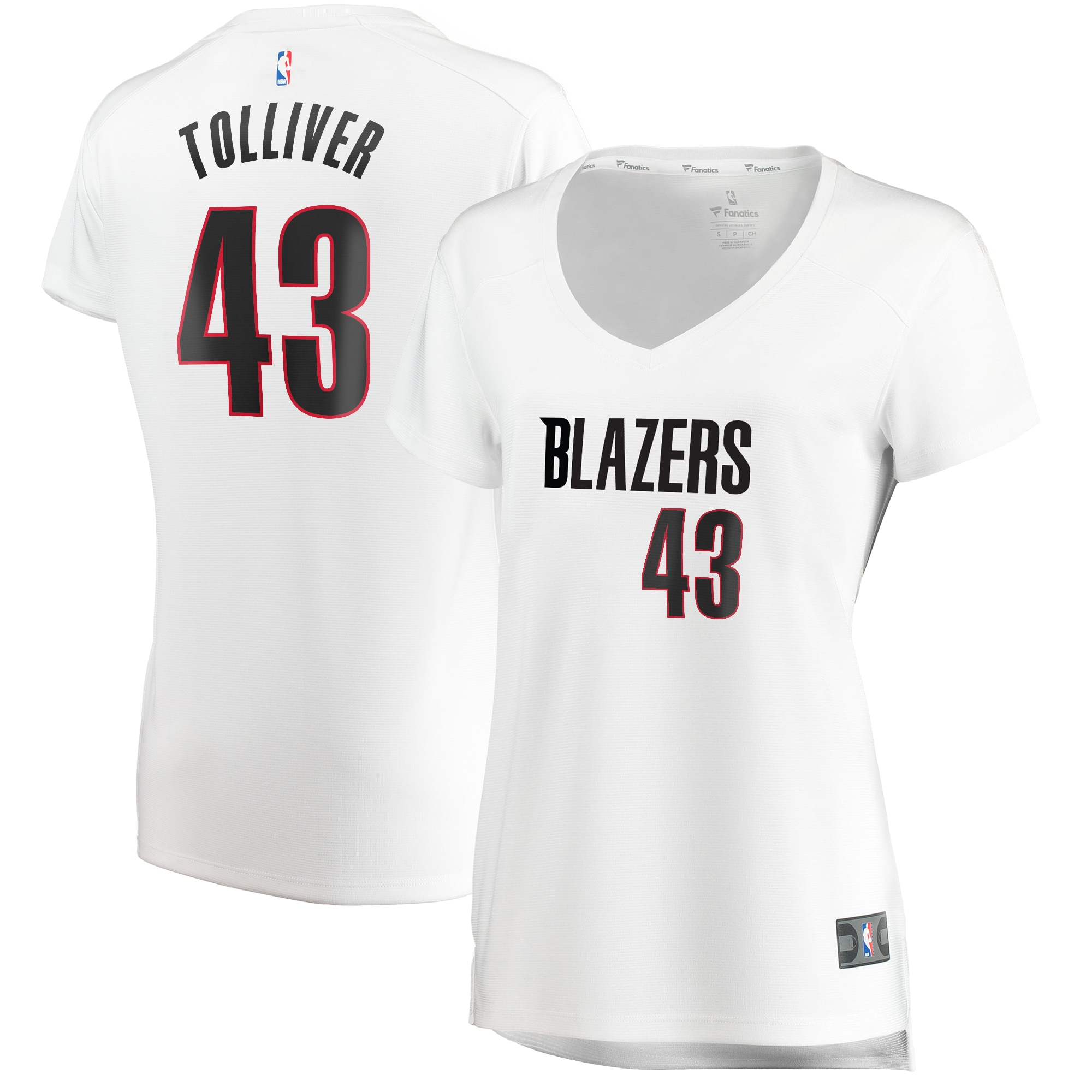 Anthony Tolliver Portland Trail Blazers Fanatics Branded Women's Fast Break Replica Jersey White - Association Edition