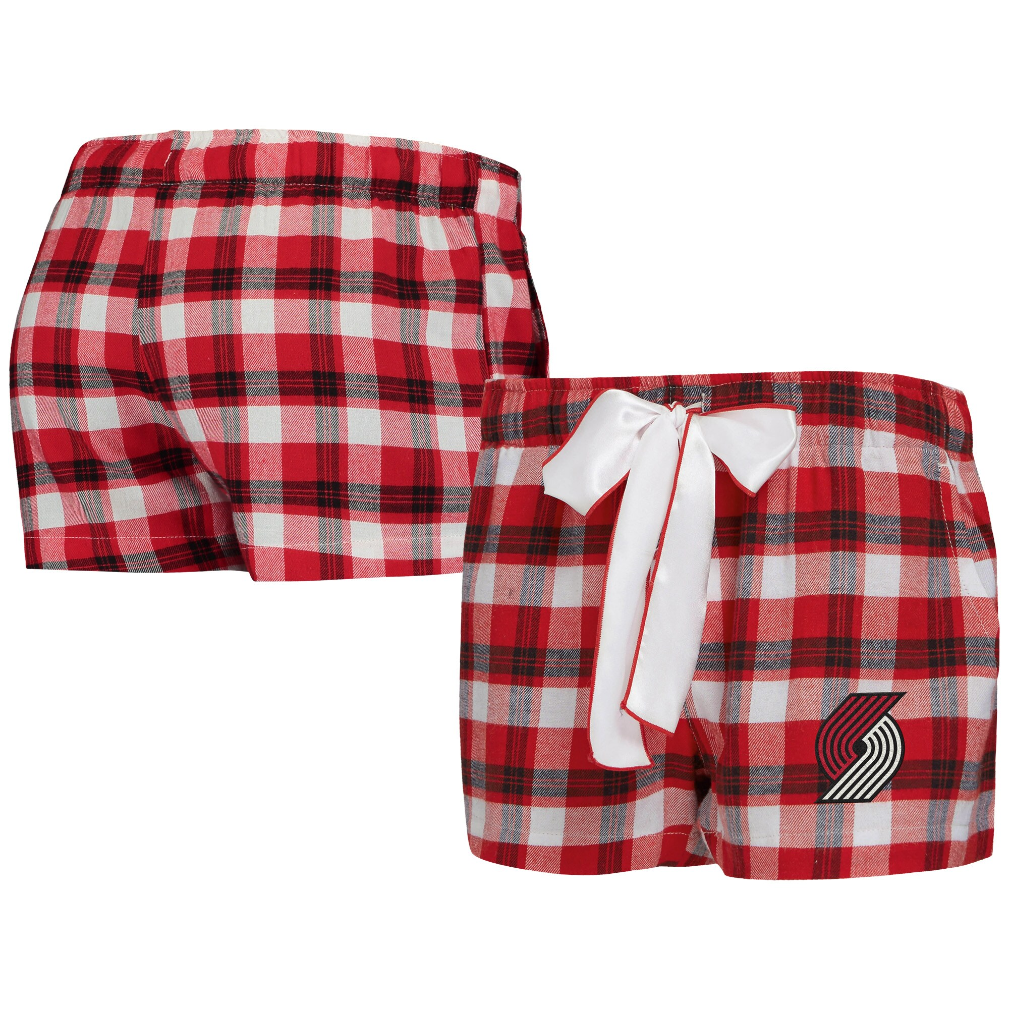 Portland Trail Blazers Concepts Sport Women's Piedmont Flannel Sleep Shorts - Red/Black