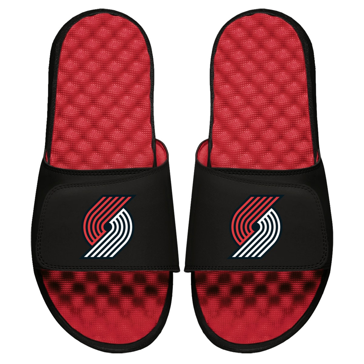 Portland Trail Blazers ISlide Primary Logo Slide Sandals - Red
