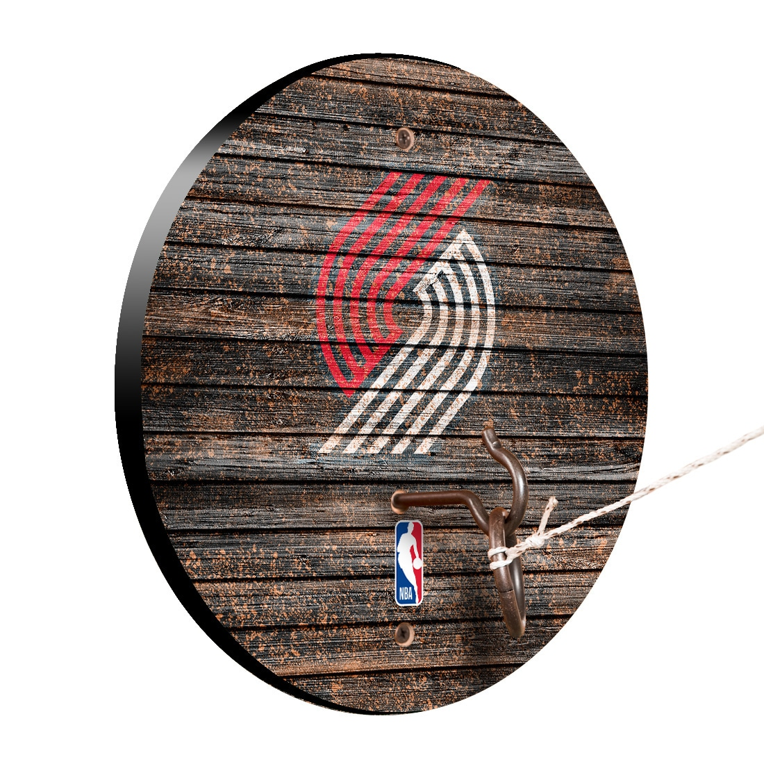 Portland Trail Blazers Weathered Design Hook and Ring Game