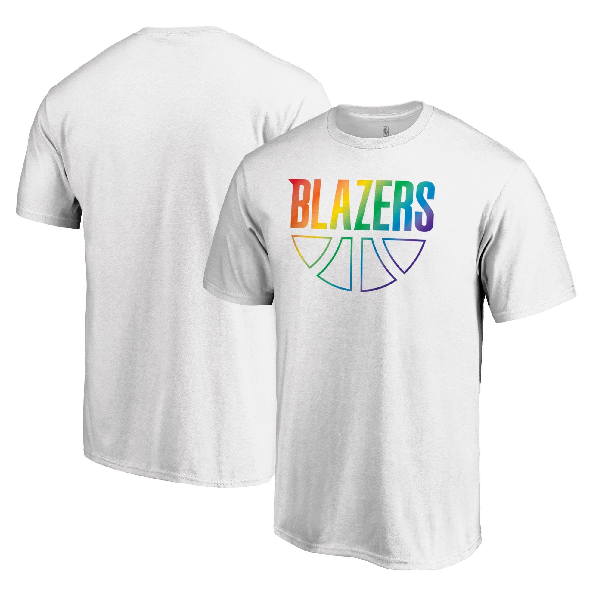 Portland Trail Blazers Fanatics Branded Team Pride Wordmark T-Shirt - White
