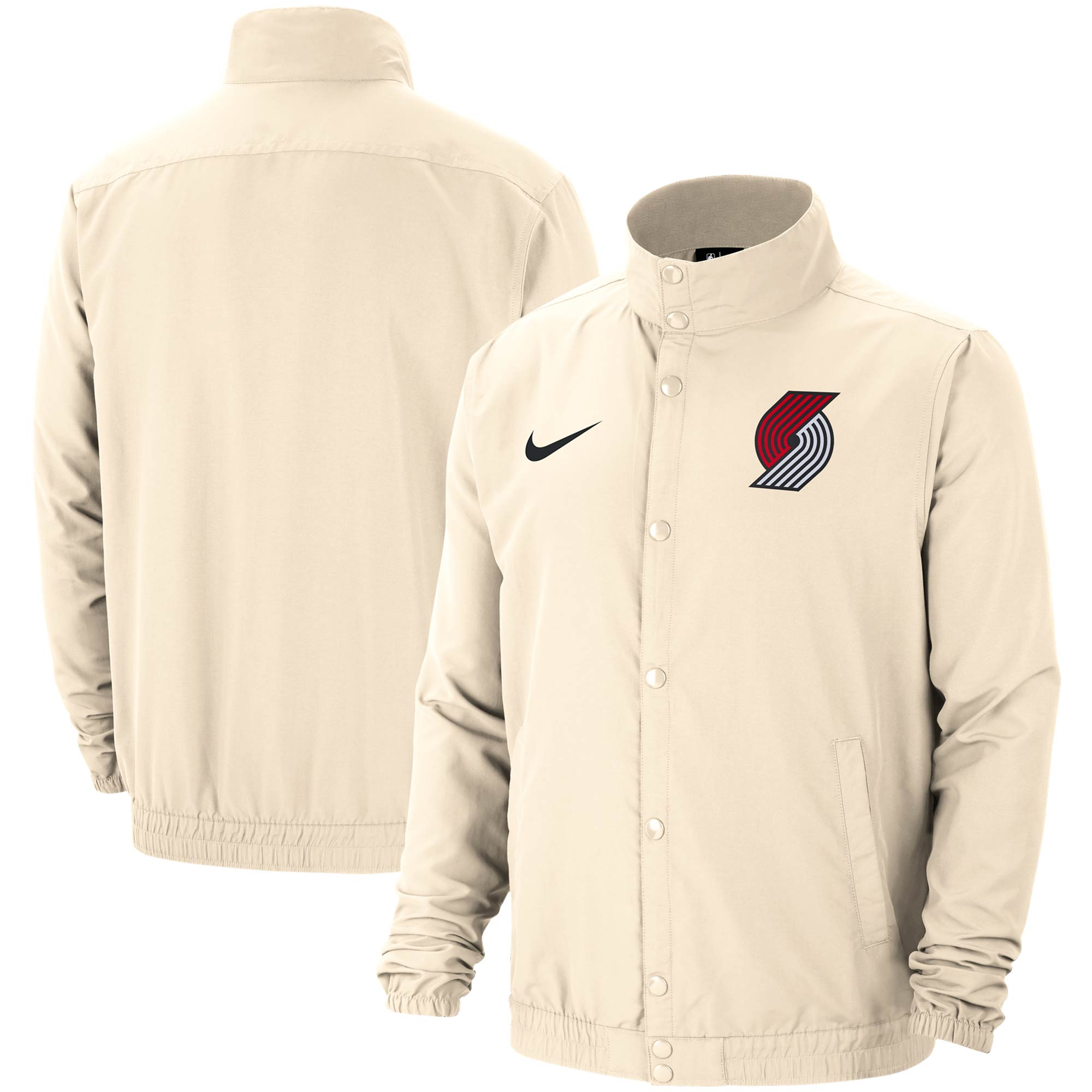 Portland Trail Blazers Nike City Edition 2.0 Lightweight DNA Full-Snap Jacket - Cream