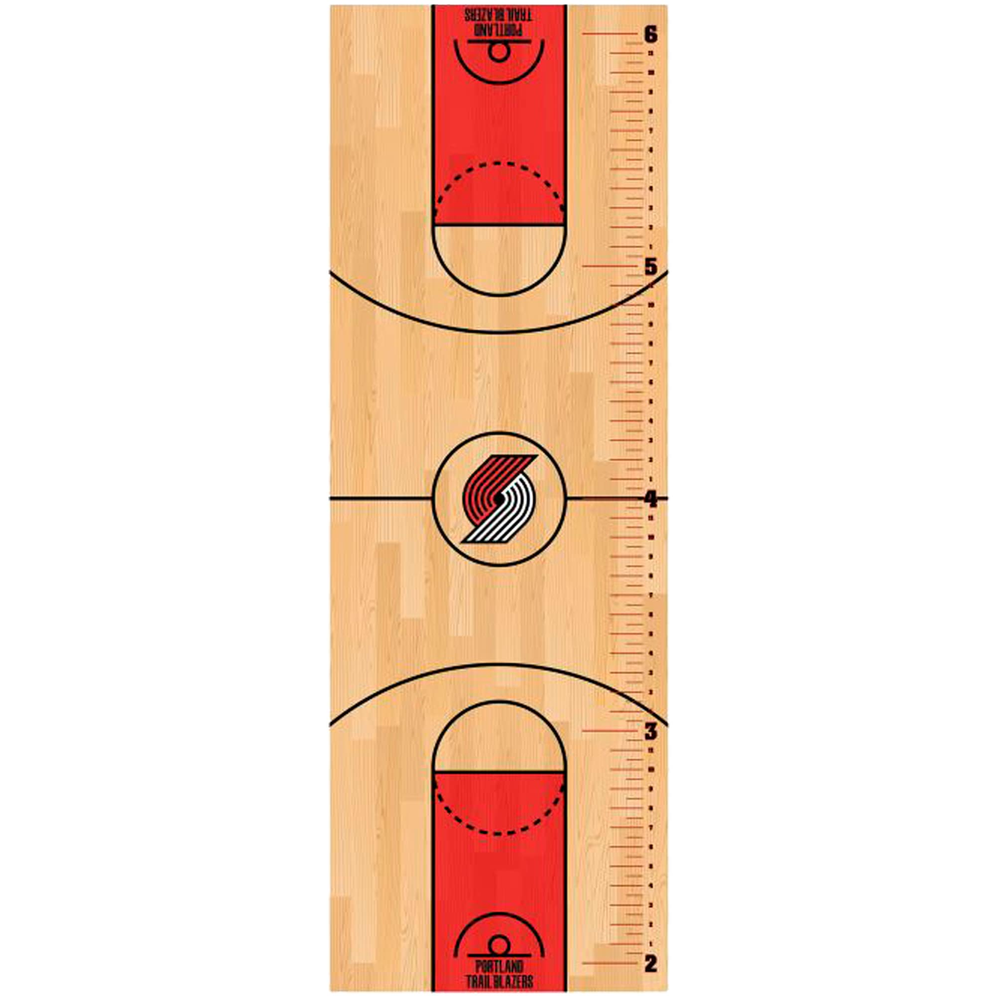 Portland Trail Blazers Fathead Basketball Court Large Removable Growth Chart