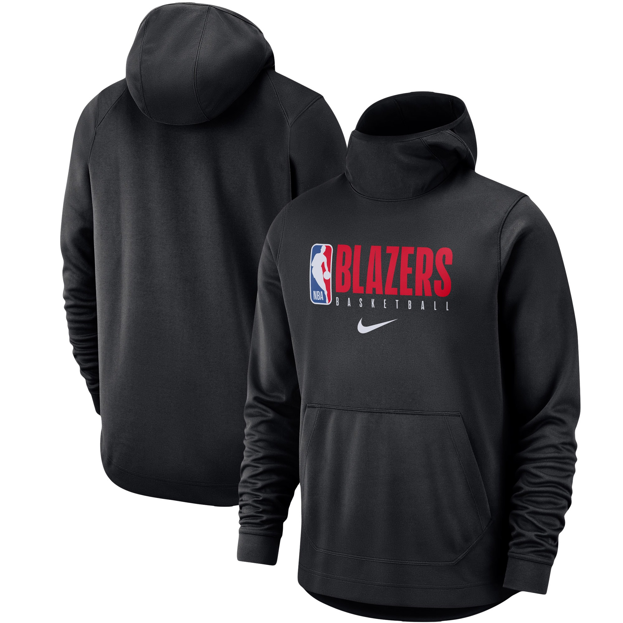 Portland Trail Blazers Nike Spotlight Practice Performance Pullover Hoodie - Black