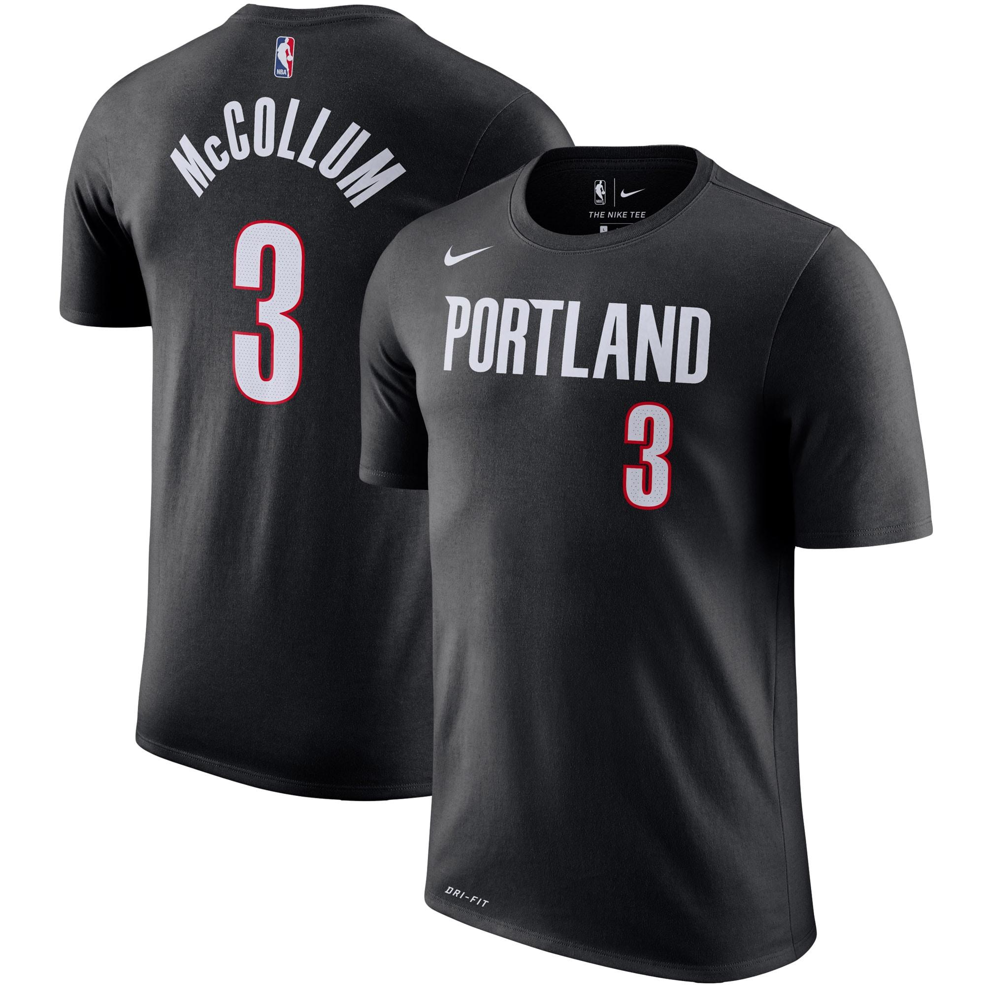 C.J. McCollum Portland Trail Blazers Nike Player Name & Number Performance T-Shirt - Black