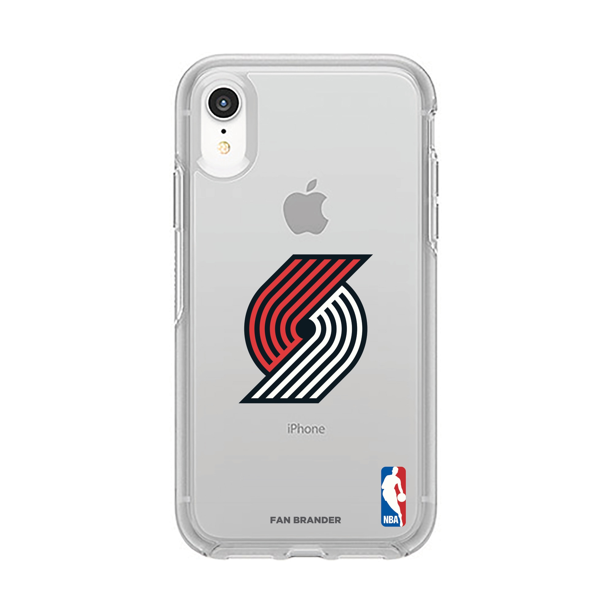 Portland Trail Blazers OtterBox Clear Primary Logo iPhone Case