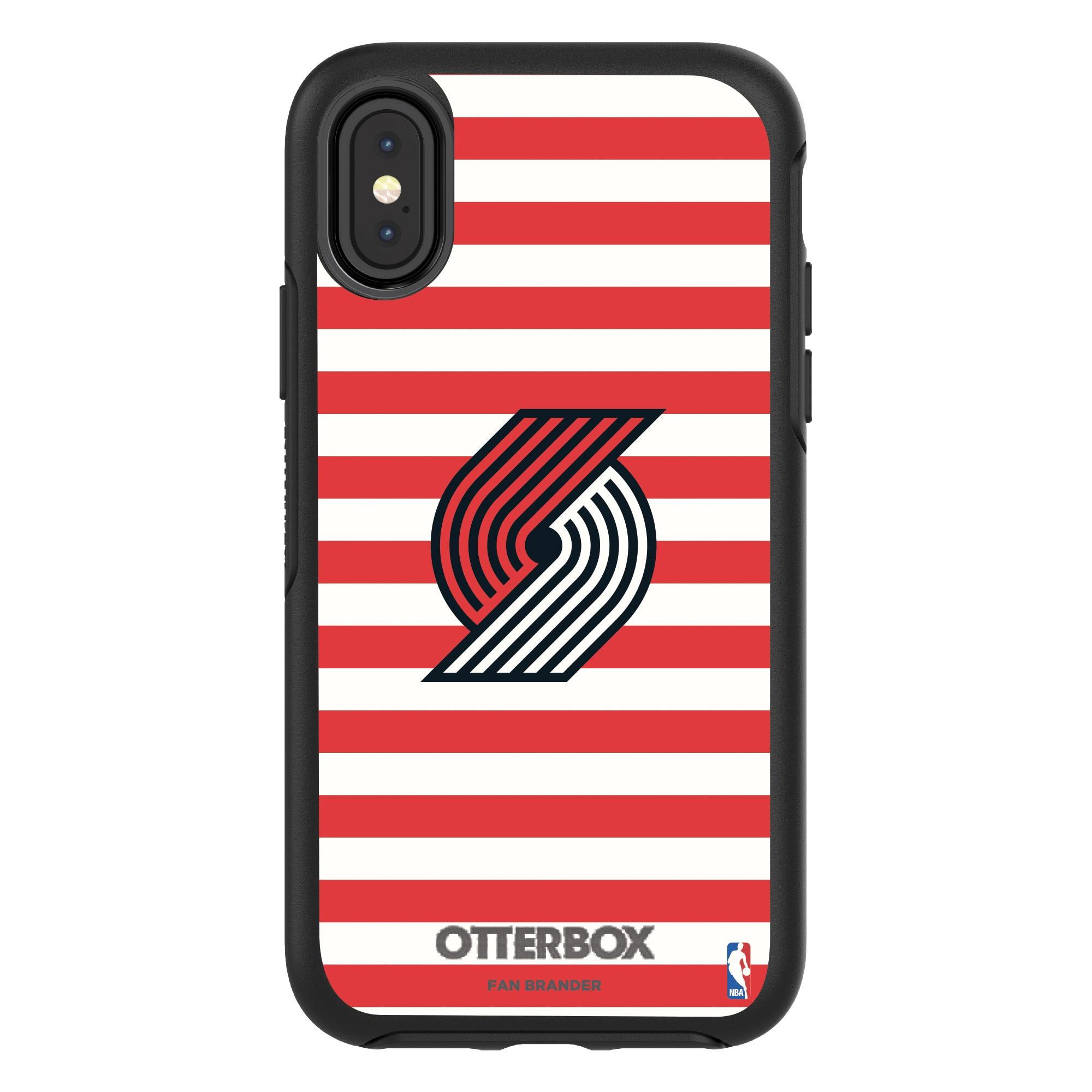 Portland Trail Blazers OtterBox iPhone Symmetry Striped Design Case