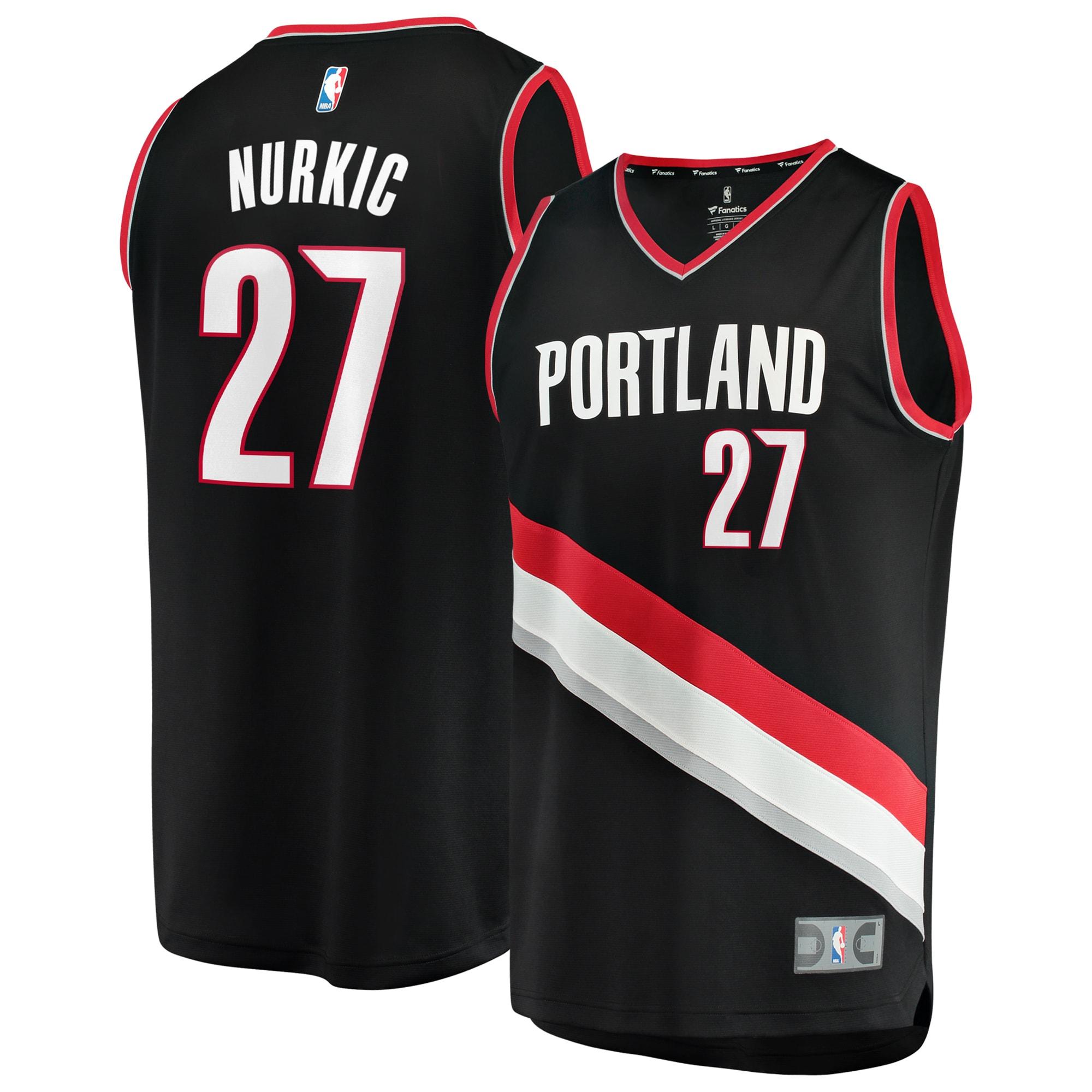 Portland Trail Blazers Jusuf Nurkic Fanatics Branded Youth Fast Break Player Jersey - Icon Edition - Black
