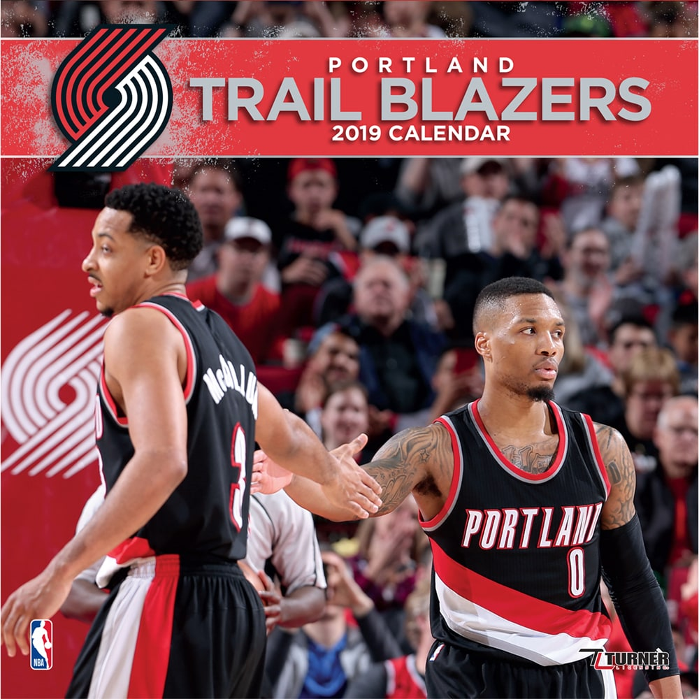 "Portland Trail Blazers 12"" x 12"" 2019 Team Wall Calendar"