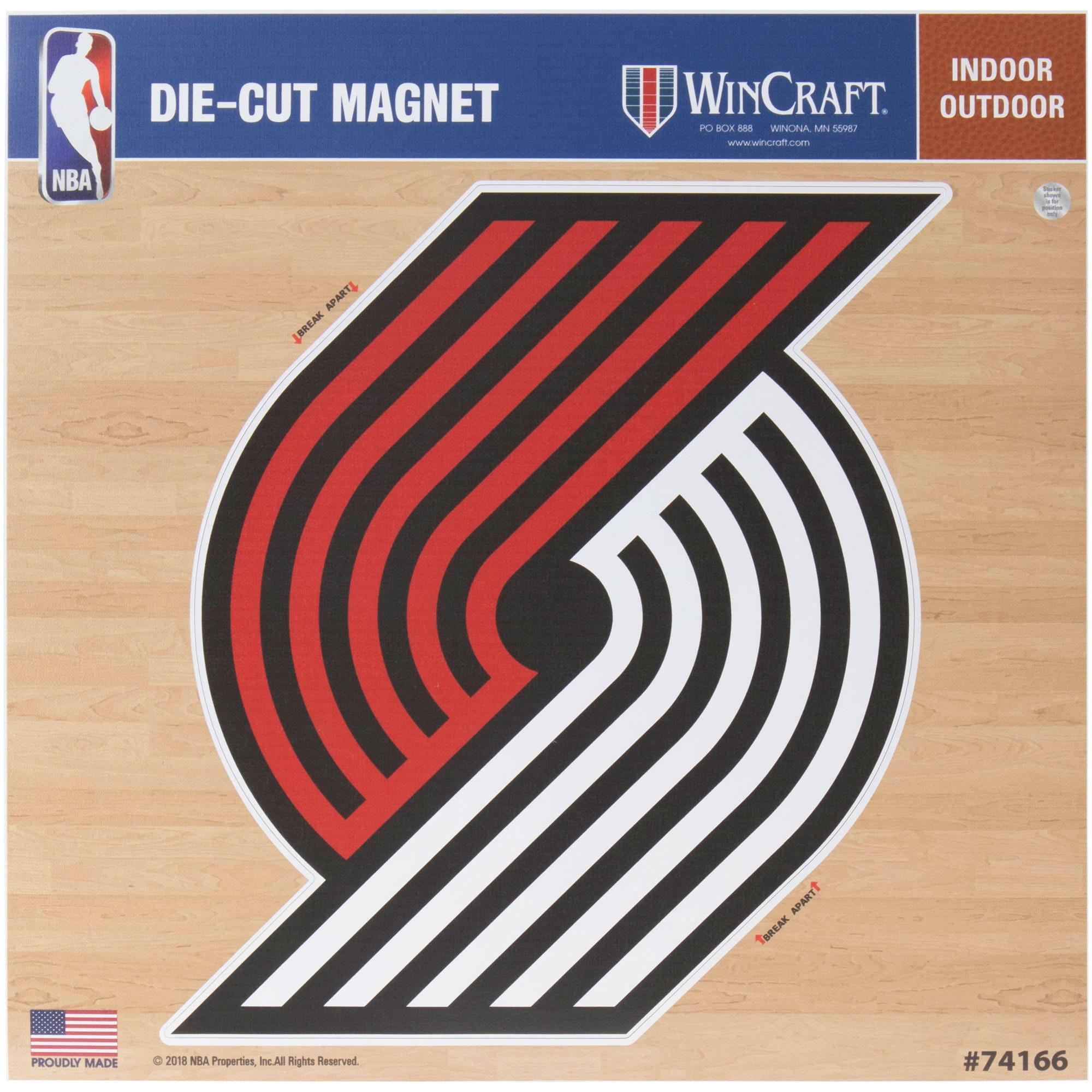 "Portland Trail Blazers 12"" x 12"" Car Magnet"