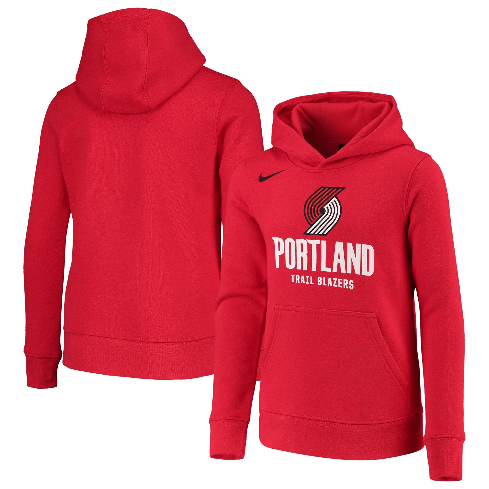 Portland Trail Blazers Nike Youth Essential Logo Hoodie - Red
