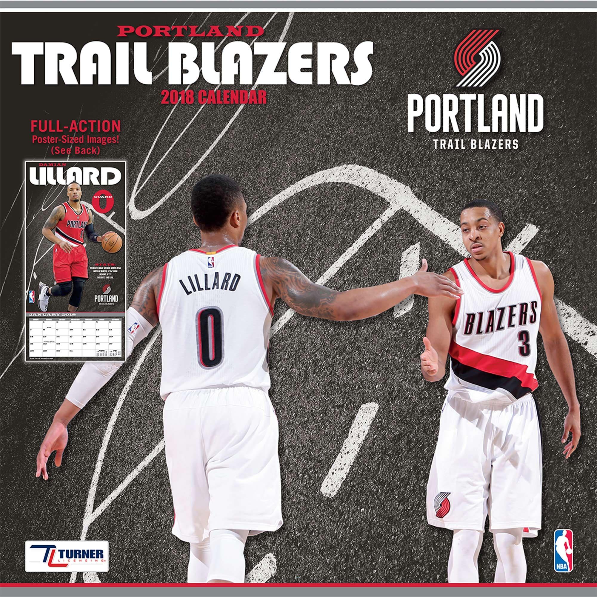 "Portland Trail Blazers 2018 12"" x 12"" Team Wall Calendar"