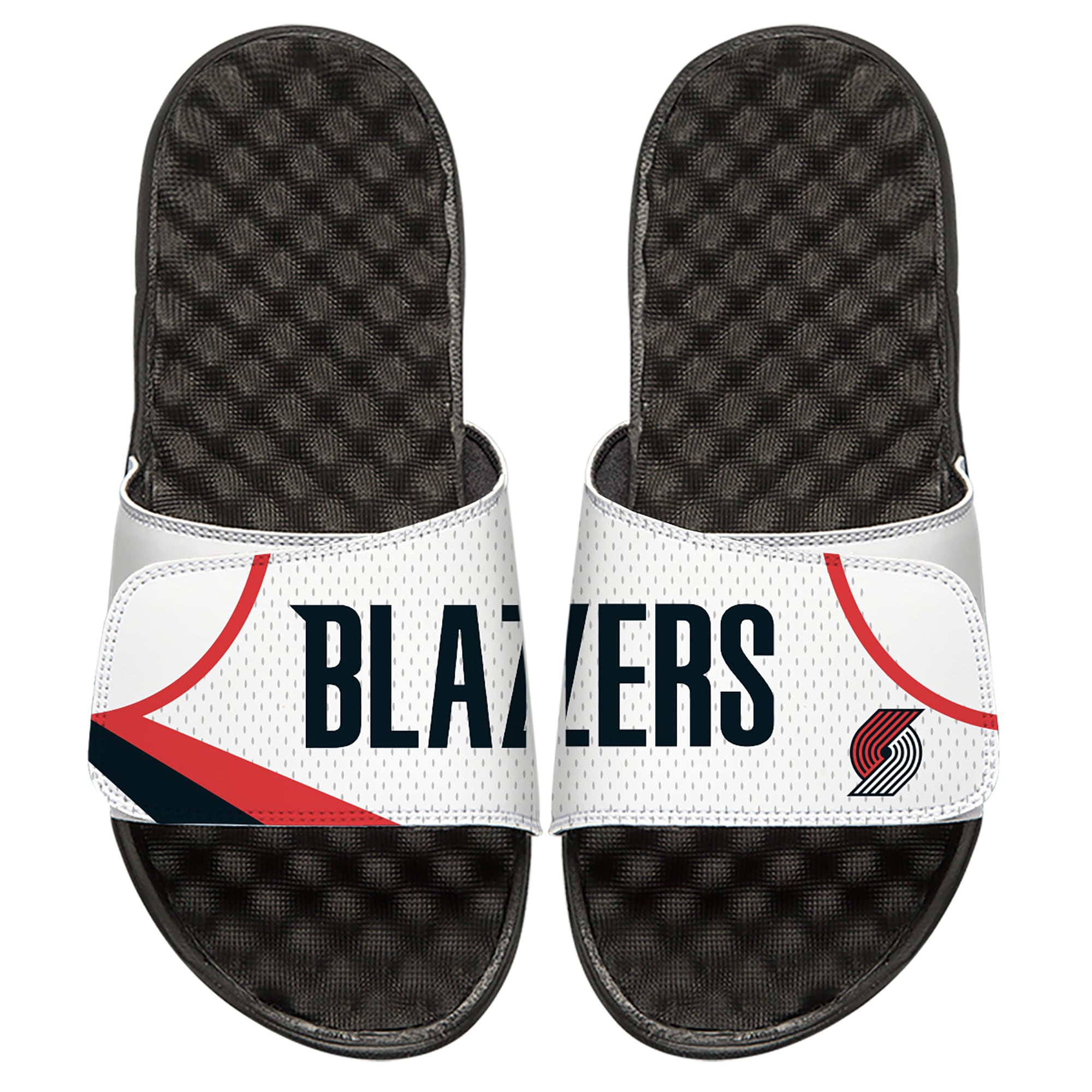 Portland Trail Blazers ISlide Home Jersey Split Slide Sandals - White