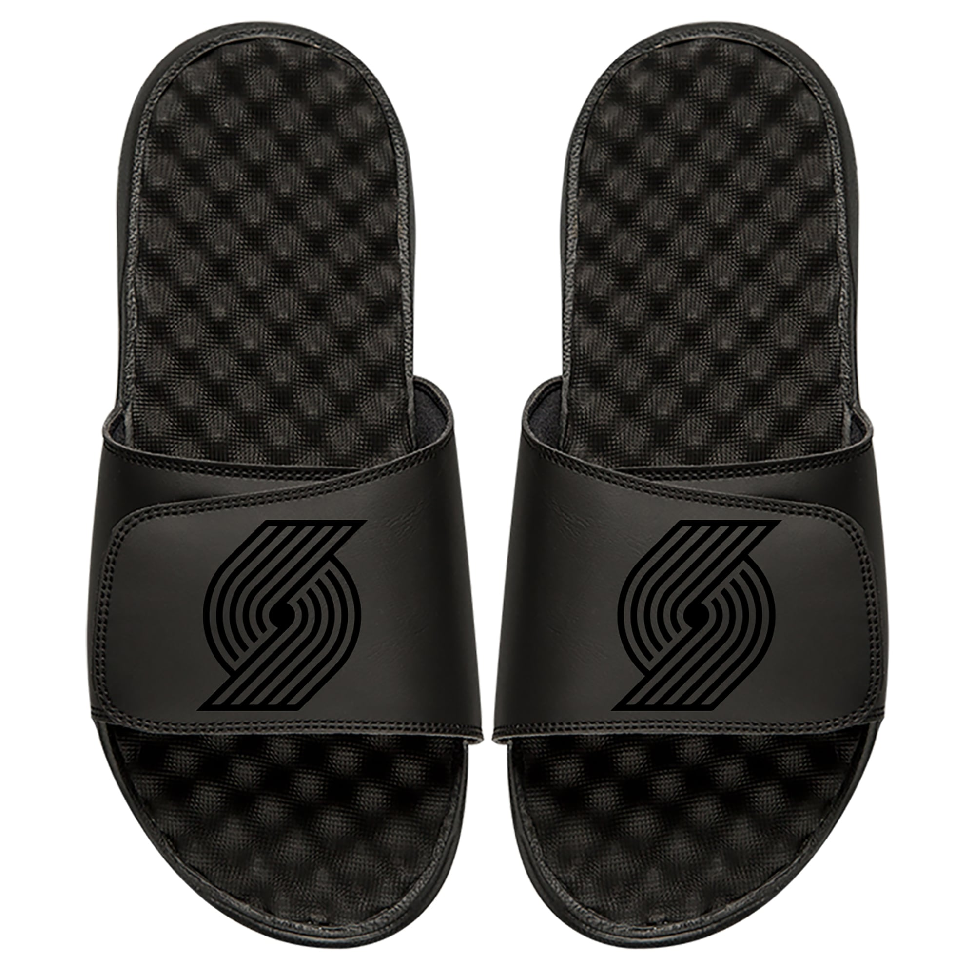 Portland Trail Blazers ISlide Youth Tonal Slide Sandals - Black