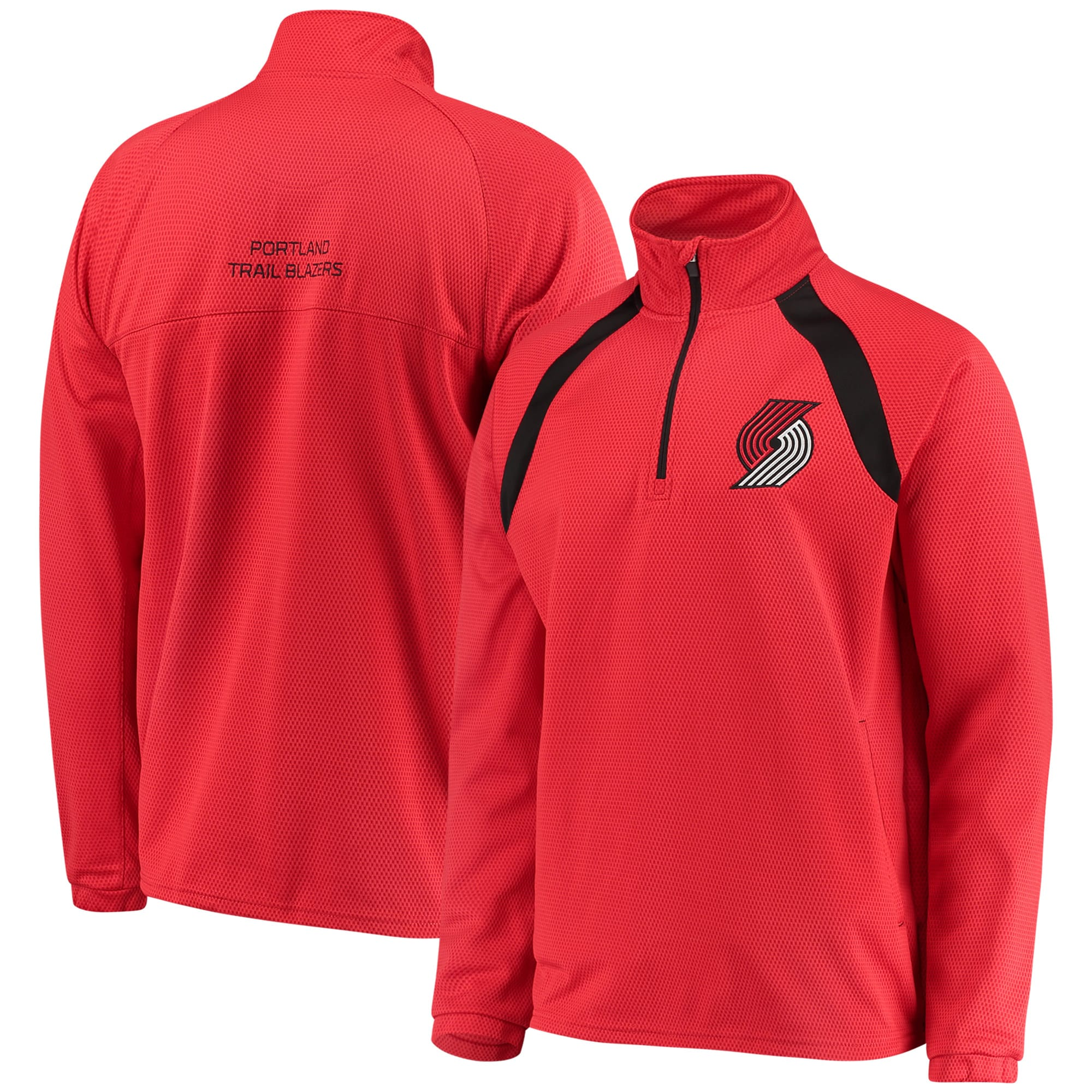 Portland Trail Blazers G-III Sports by Carl Banks High Impact Quarter-Zip Pullover Jacket - Red