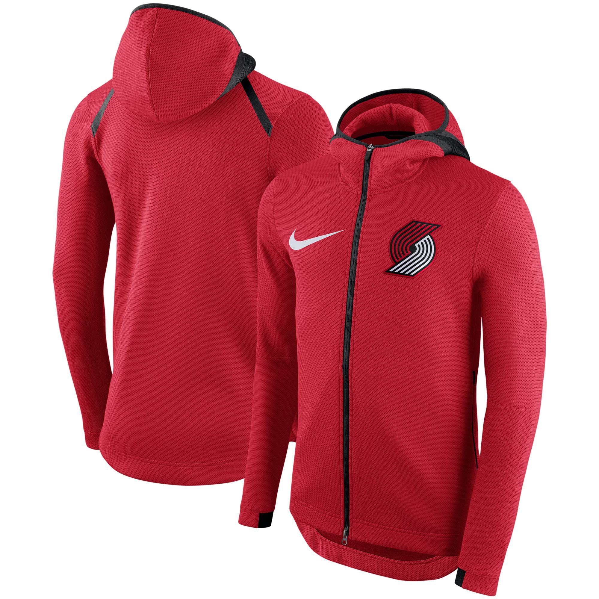 Portland Trail Blazers Nike Showtime Therma Flex Performance Full-Zip Hoodie - Red