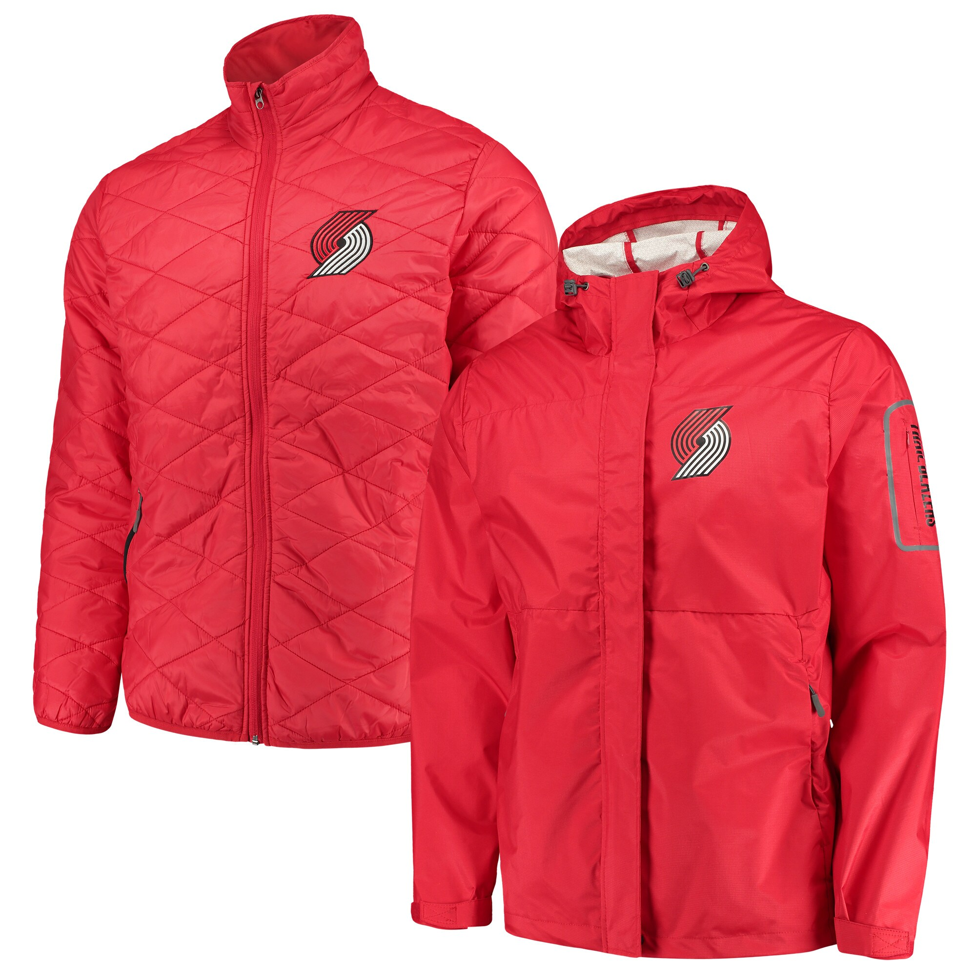 Portland Trail Blazers G-III Sports by Carl Banks Acclimation 3-in-1 Systems Full-Zip Jacket - Red