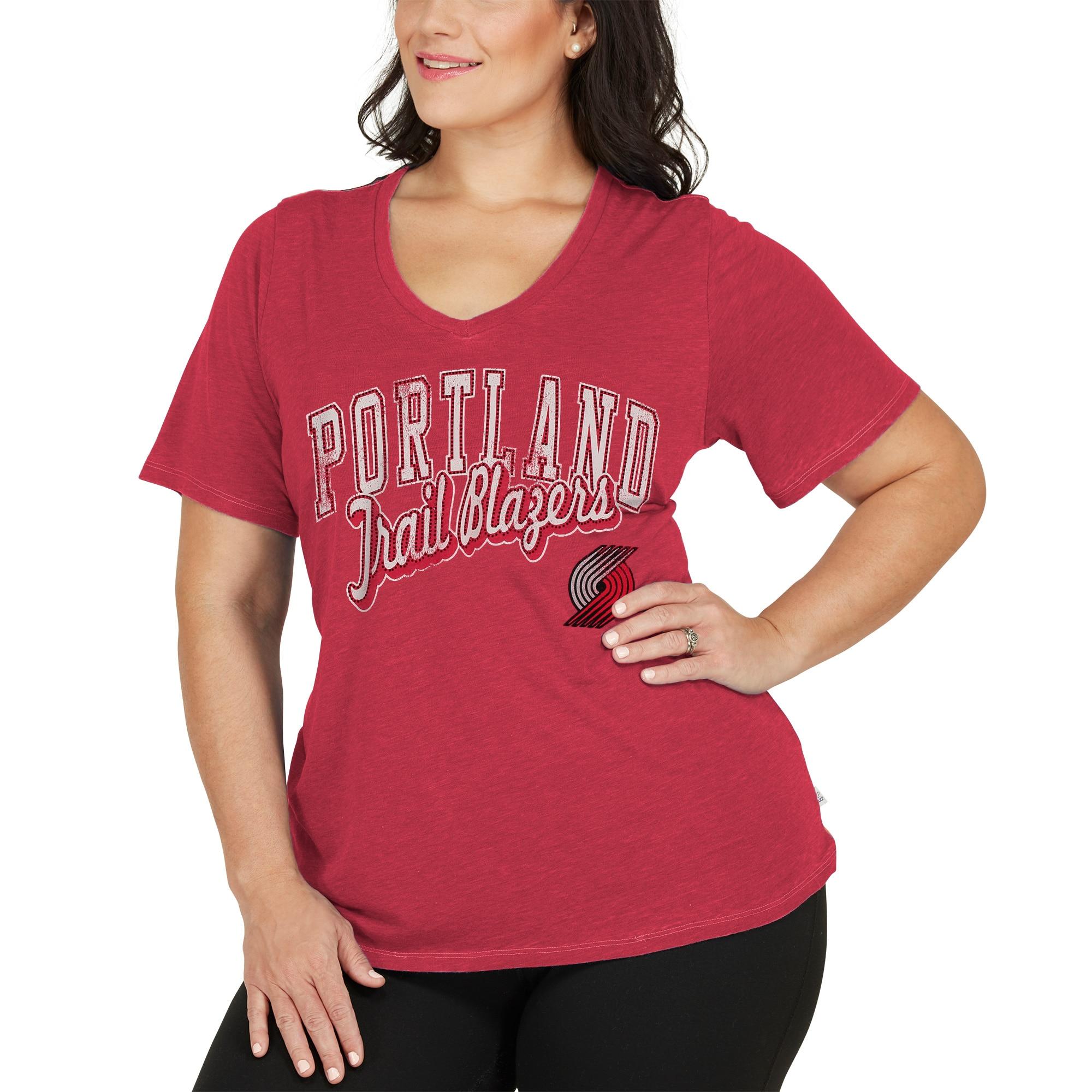 Portland Trail Blazers Touch by Alyssa Milano Women's Plus Size Star Player T-Shirt - Red