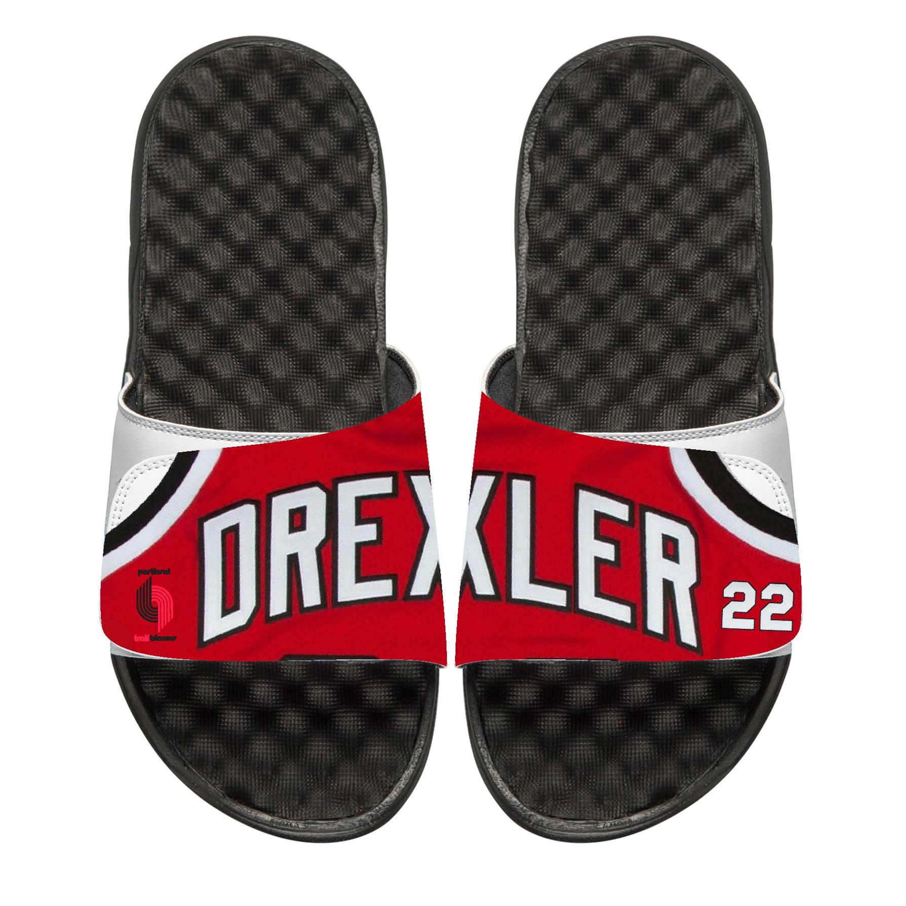 Clyde Drexler Portland Trail Blazers ISlide Retro Jersey Slide Sandals