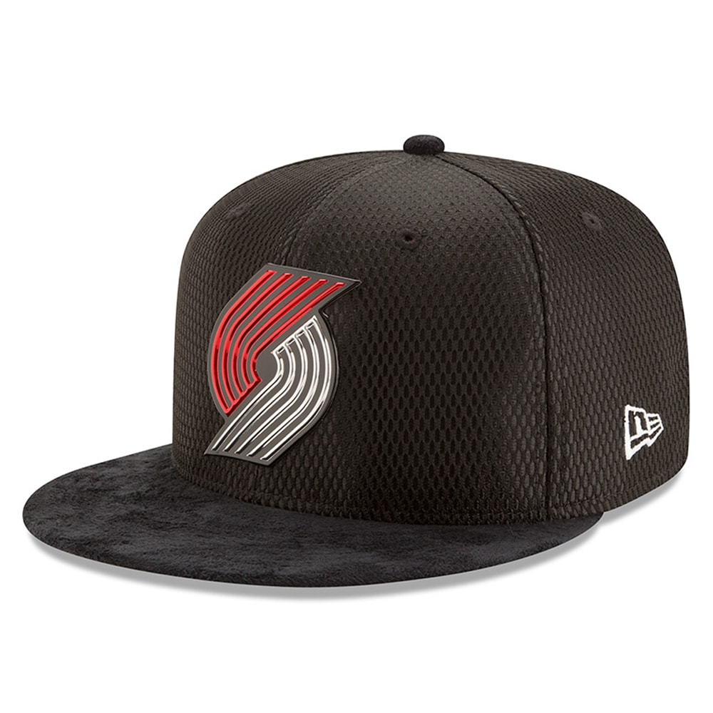 Portland Trail Blazers New Era 2017 NBA Draft Official On Court Collection 59FIFTY Fitted Hat - Black